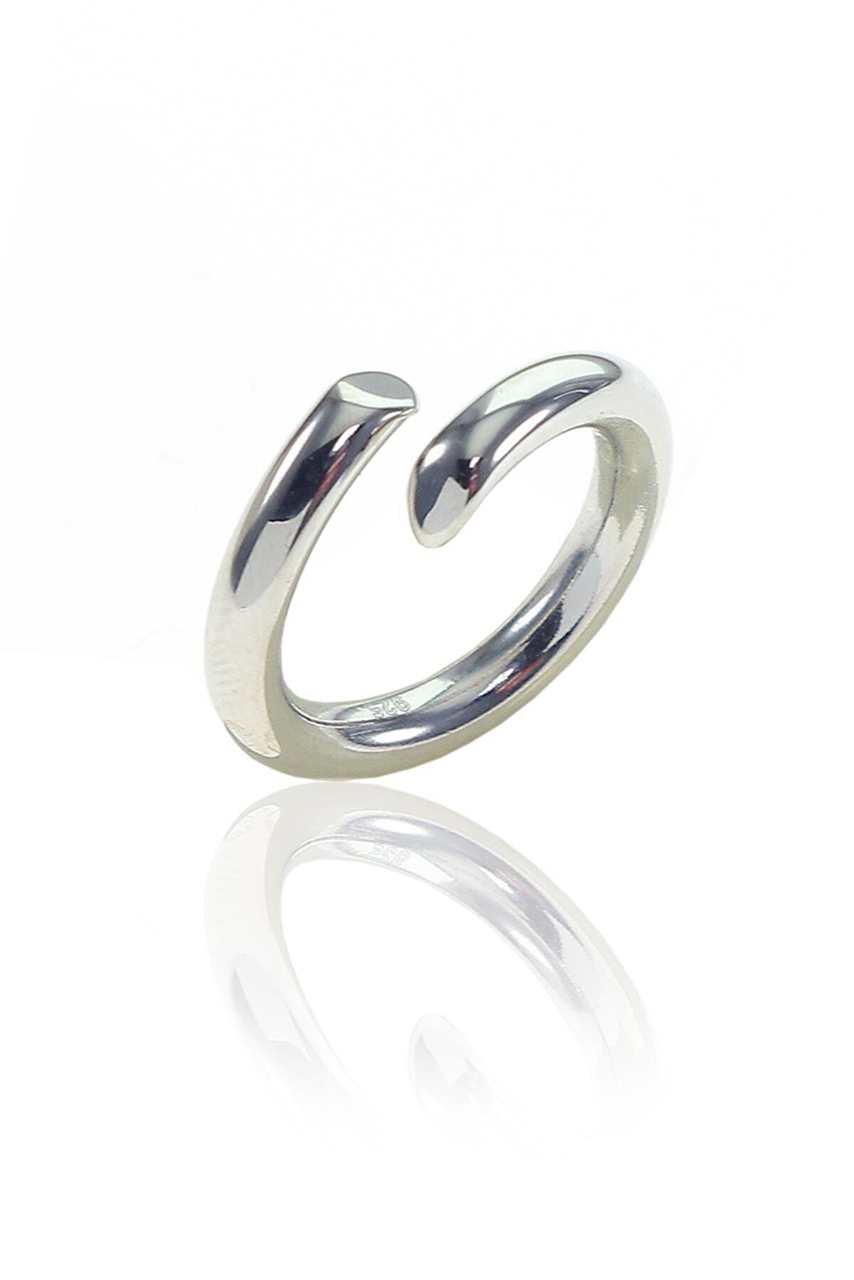 Söğütlü Silver Gümüş Rodajlı Ayarlamalı Şarnel Yüzük