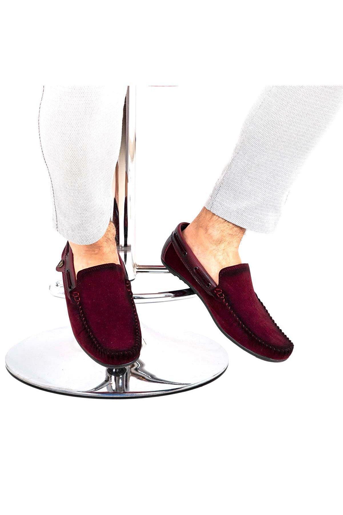 Milano Brava Ortopedik Loafer Erkek Ayakkabı Mln1001 Süet Bordo