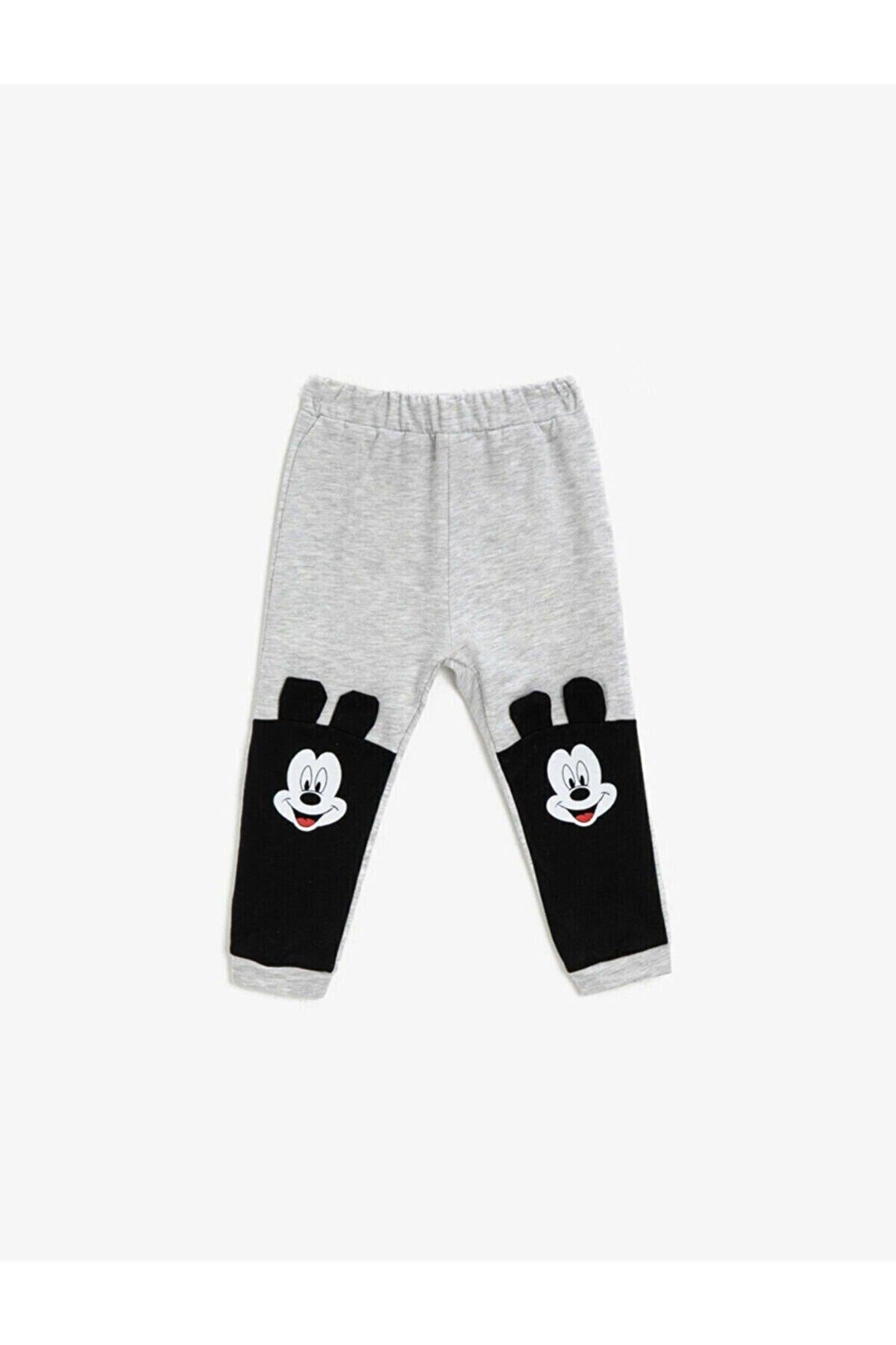 Koton Erkek Bebek Mickey Mouse Lisanslı Baskılı Gri Eşofman Alt 1kmb48393tk