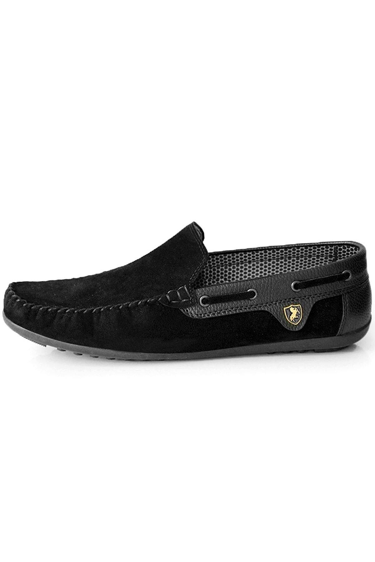Milano Brava Ortopedik Loafer Erkek Ayakkabı Mln1001 Süet Siyah