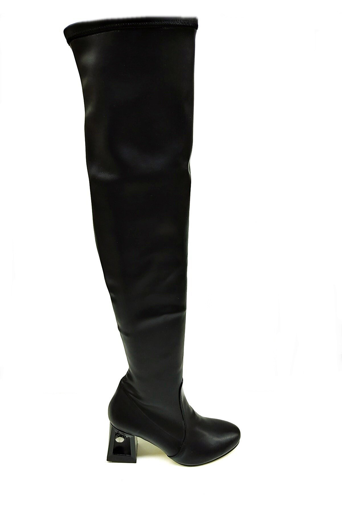 Heels Siyah Kadın Diz Üstü Çizme