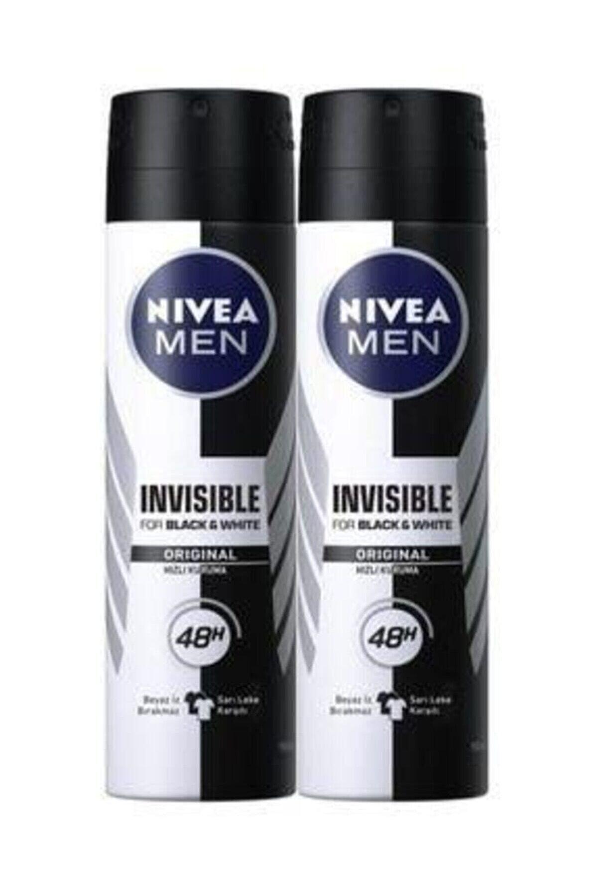 Nivea Invısıble Black&whıte Power Sprey Deodorant 150 ml Erkek 2'li Avantaj Paketi