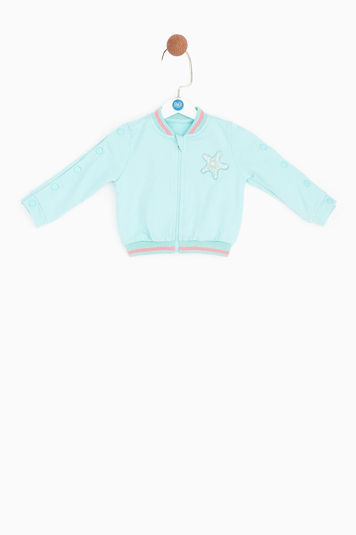 BG Baby Kız Bebek Mavi Eşofman Üstü