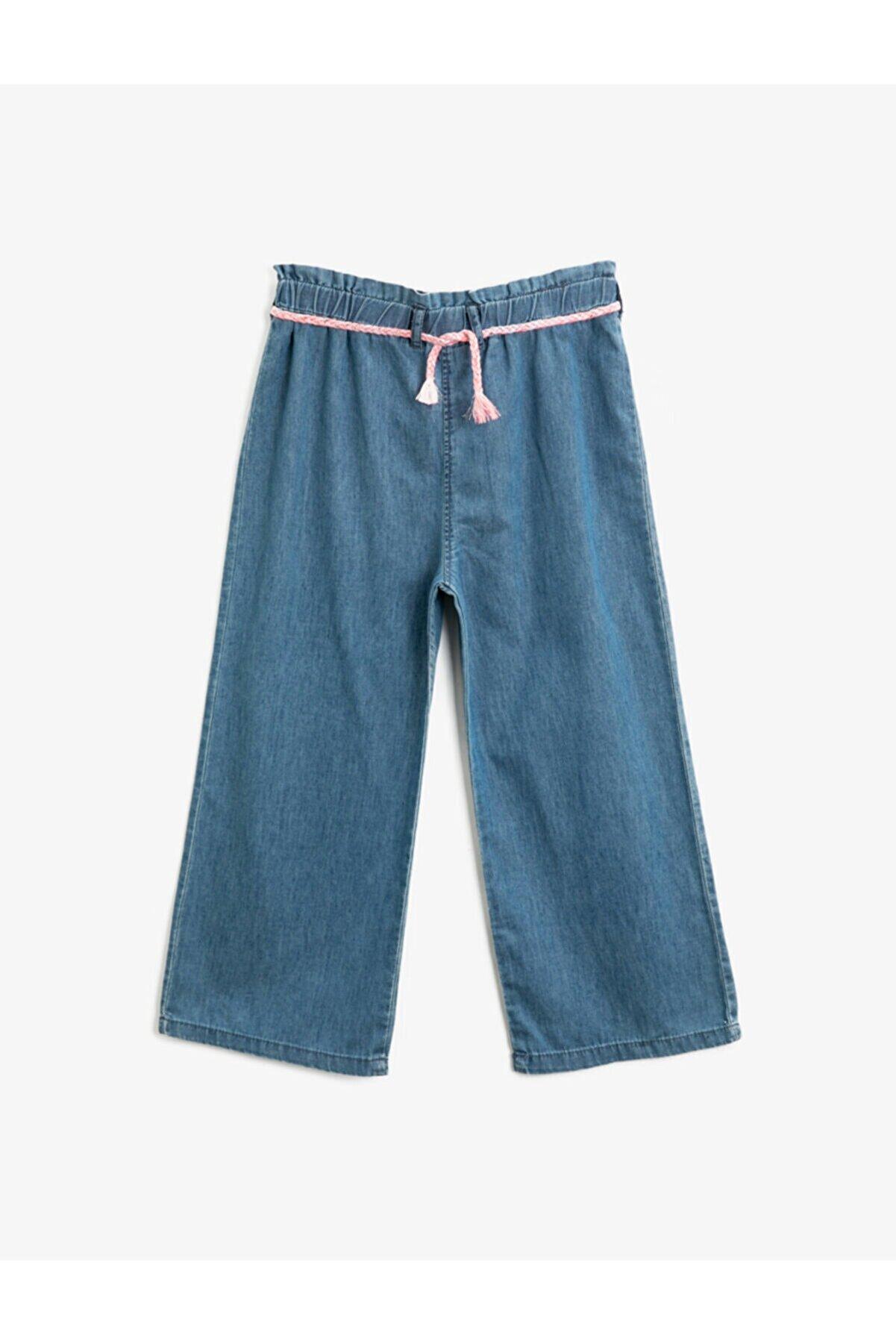 Koton Kız Çocuk Lacivert Orta Jeans 1YKG47519OD