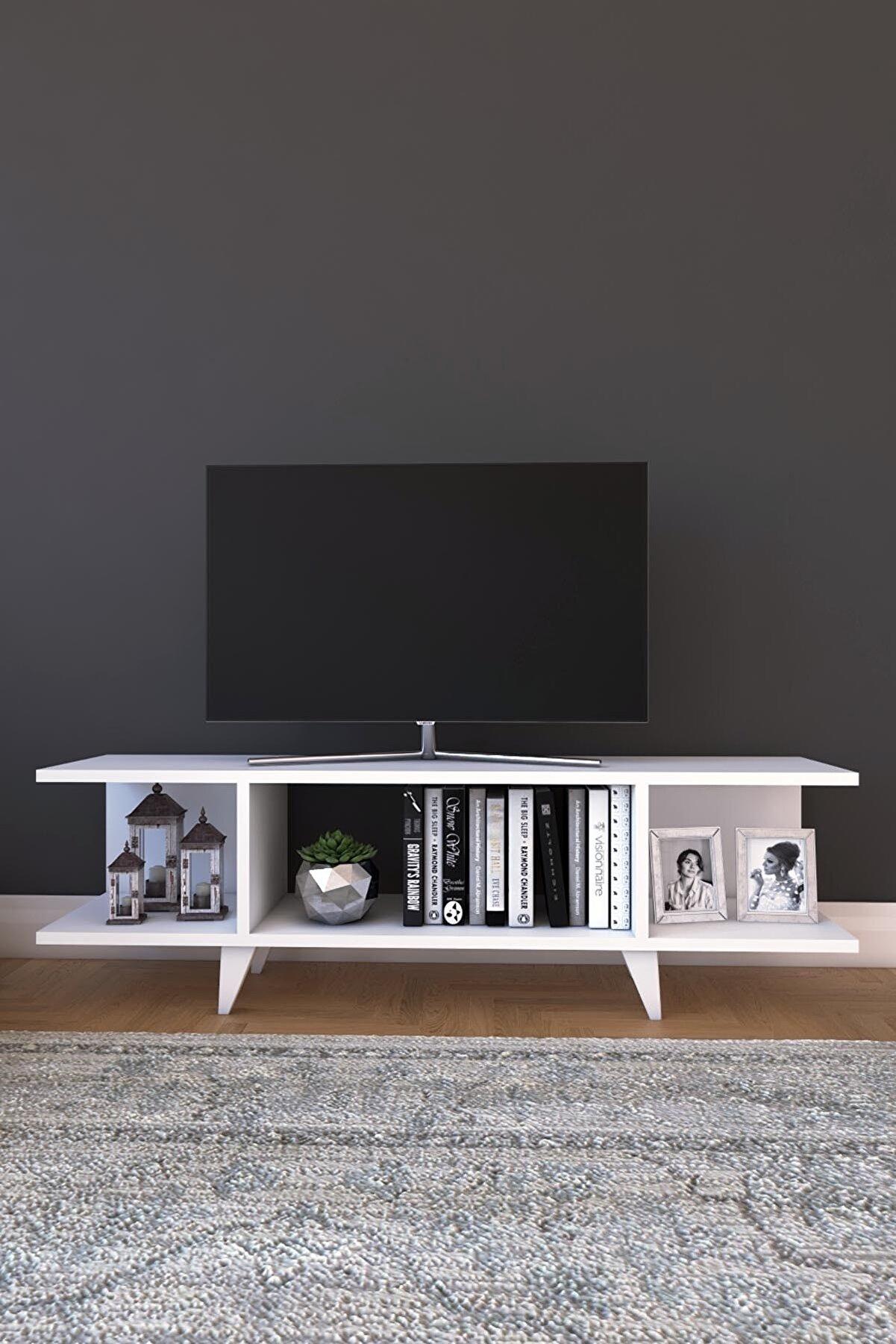 Platinreyon Kapaksız Tv Ünitesi Modern Tv Ünitesi 90 Cm Tv Sehpası