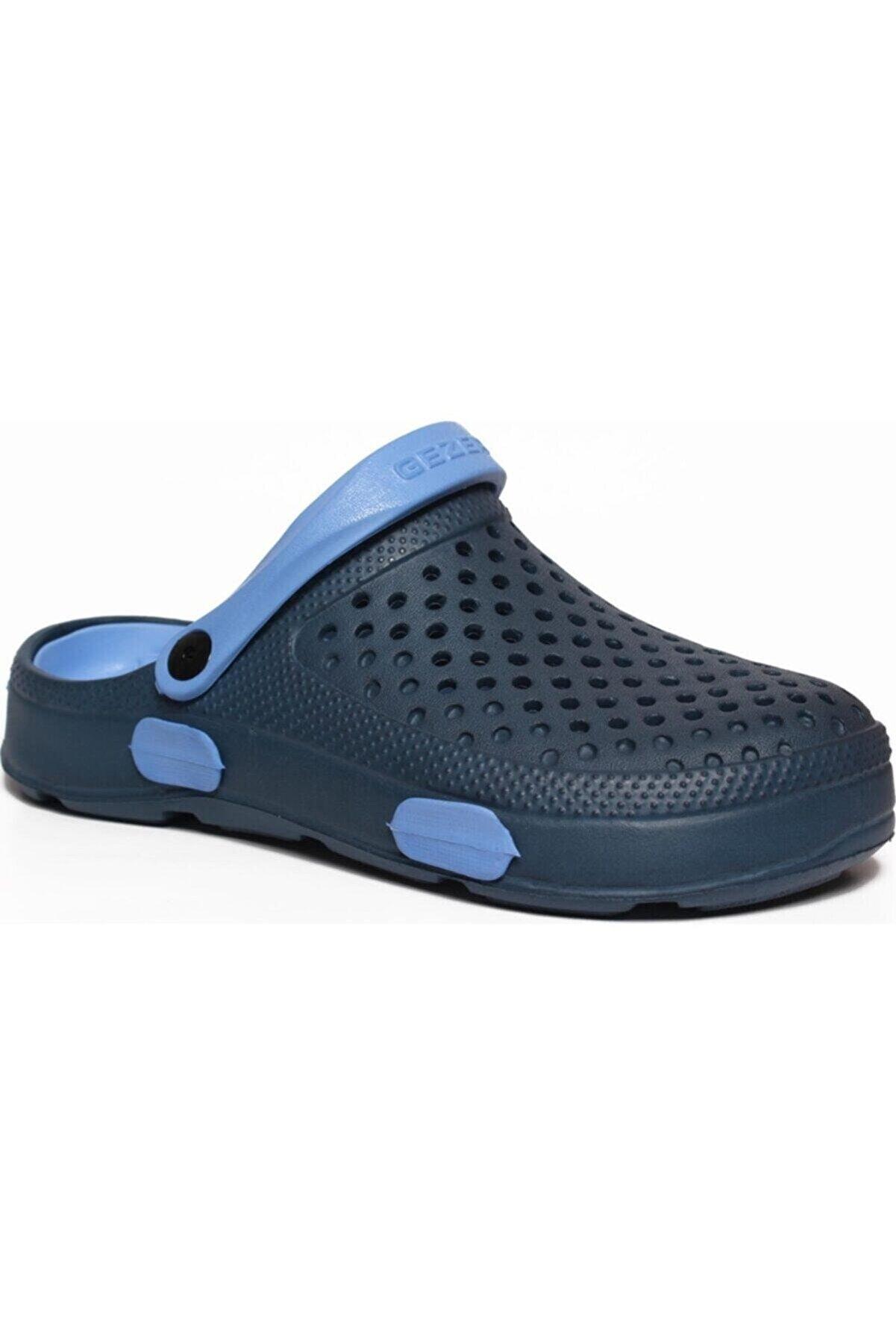 Gezer 9626 Lacivert-mavi Eva Taban Spor Crocs Hastane Ve Iş Terlik 9626 Crocs
