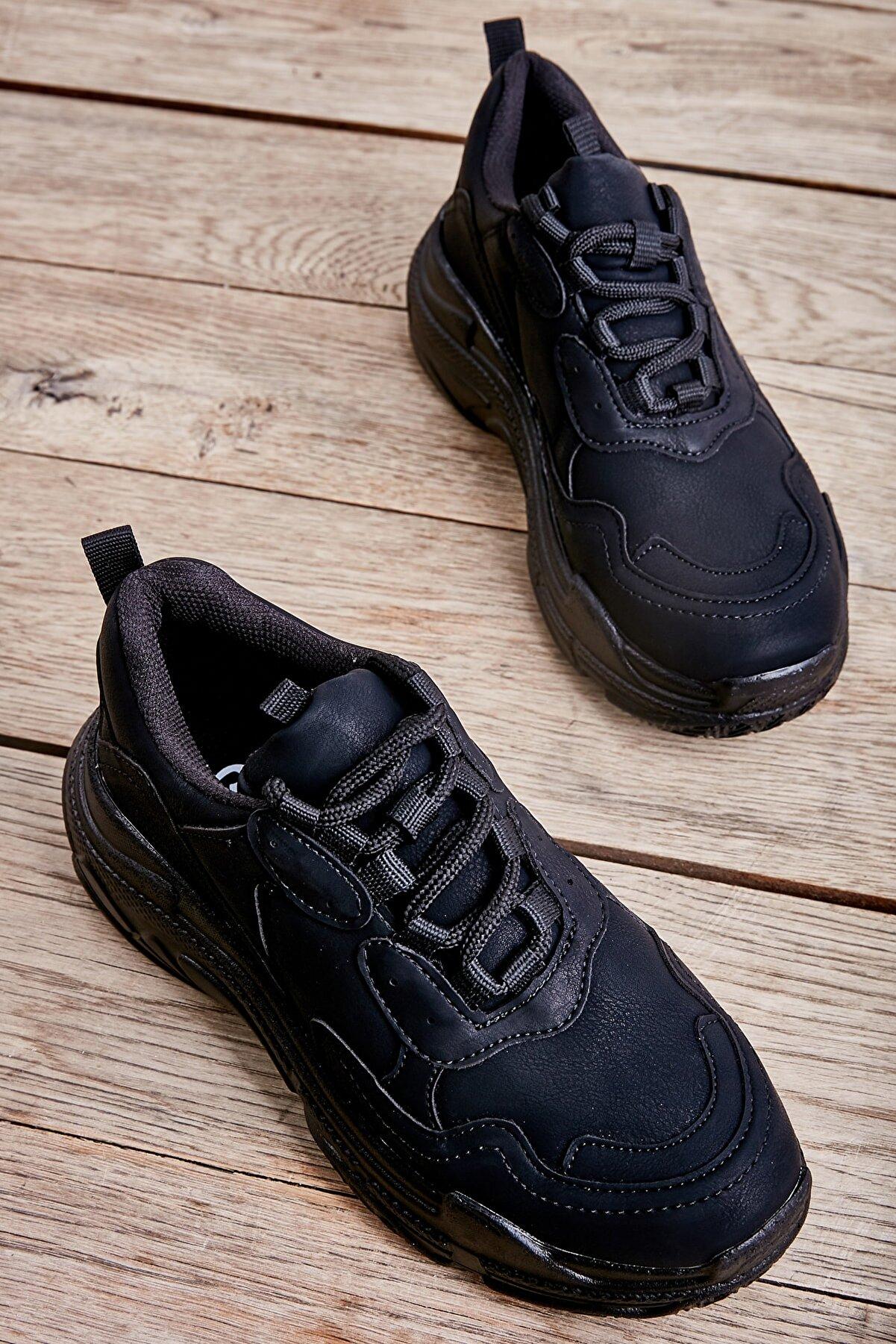 Bambi Siyah Nubuk Kadın Sneaker L0601007271
