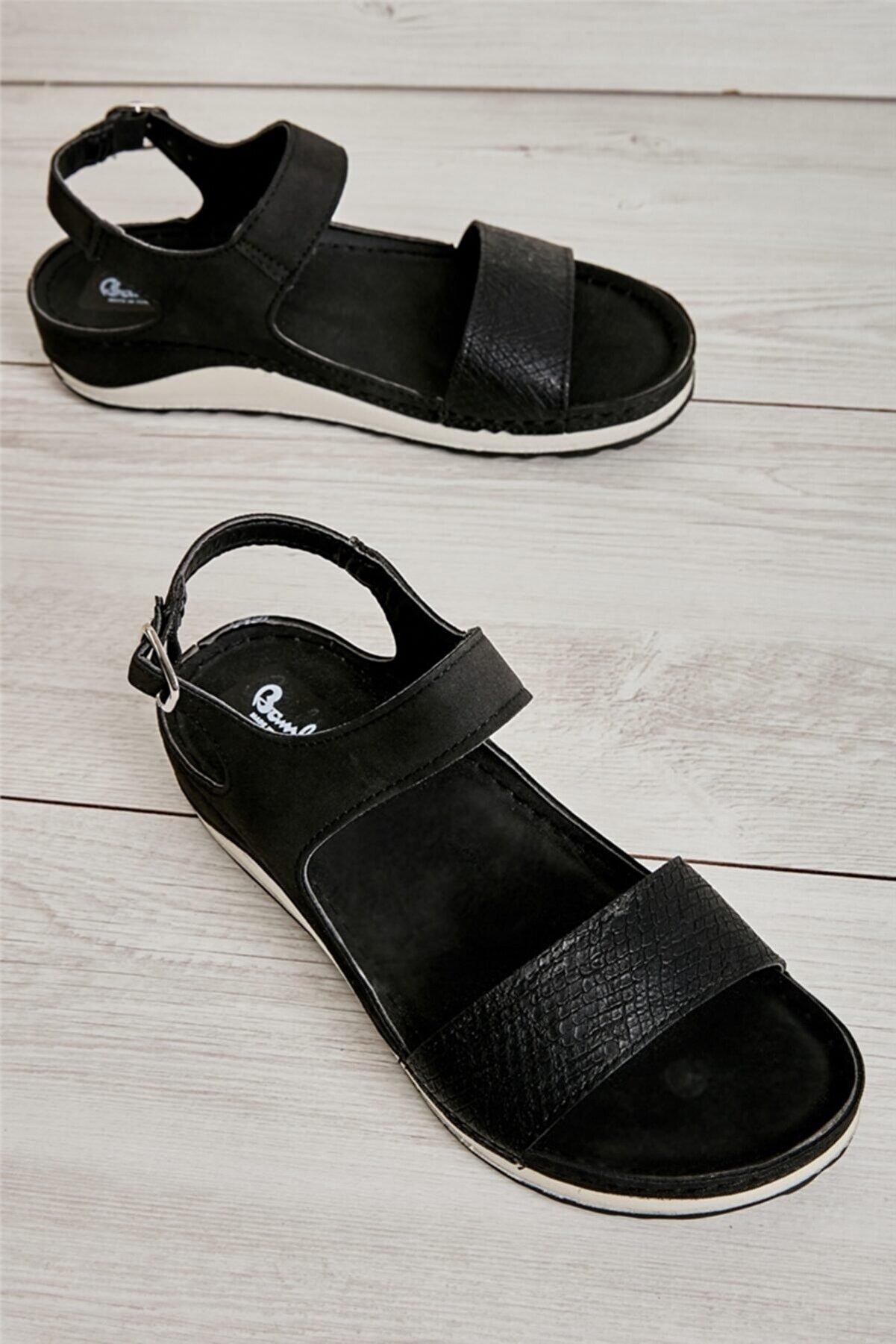 Bambi Siyah Kadın Sandalet L0785210409