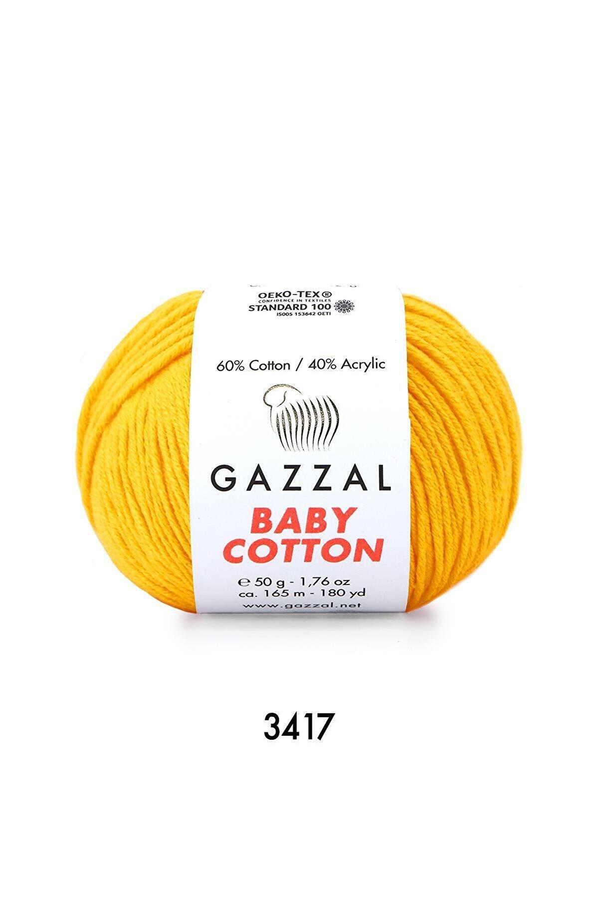 Gazzal Baby Cotton 3417 Sarı 50 Gr.