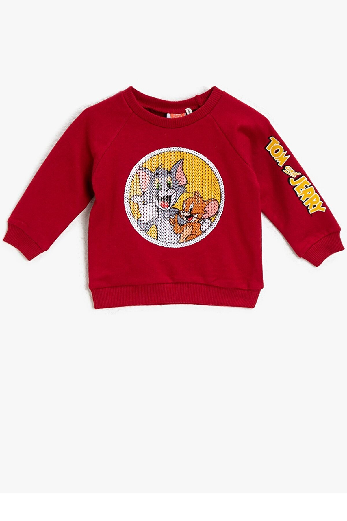 Koton Koton Erkek Bebek Tom&jerry Lisanslı Pullu Kırmızı Sweatshirt 1kmb18735tk