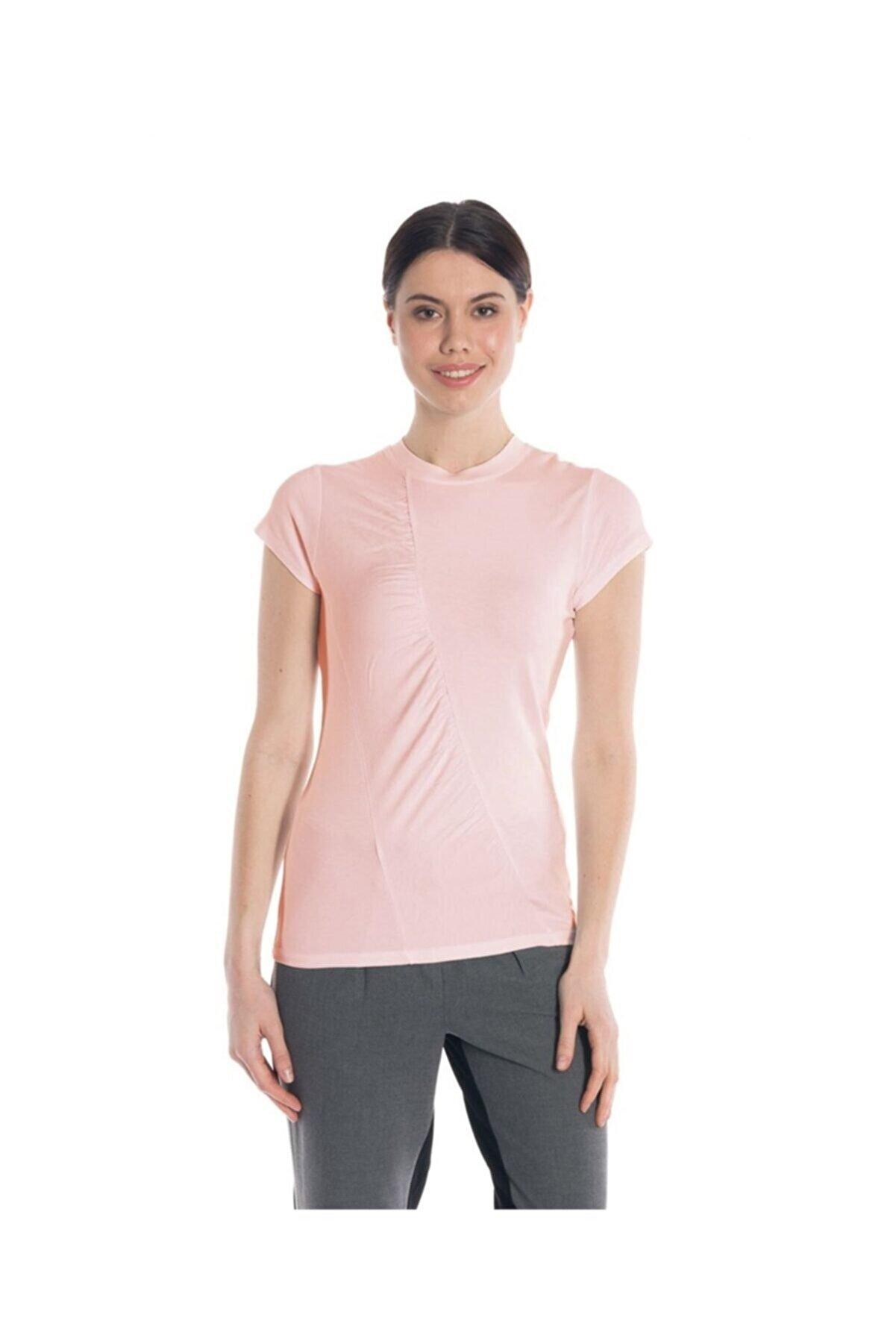 Bulalgiy Kadın Gül Kurusu Tişört - Bga30573634