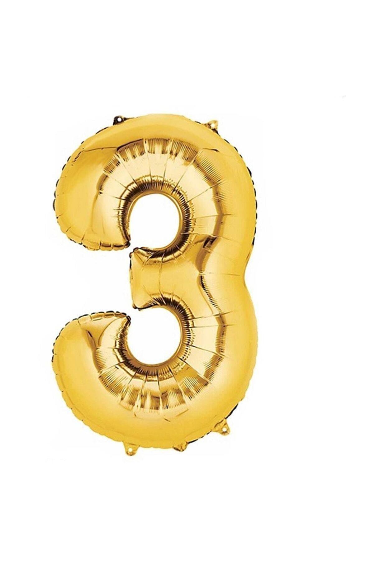 Sivassüsdünyası 3 Altın Balon 100 cm