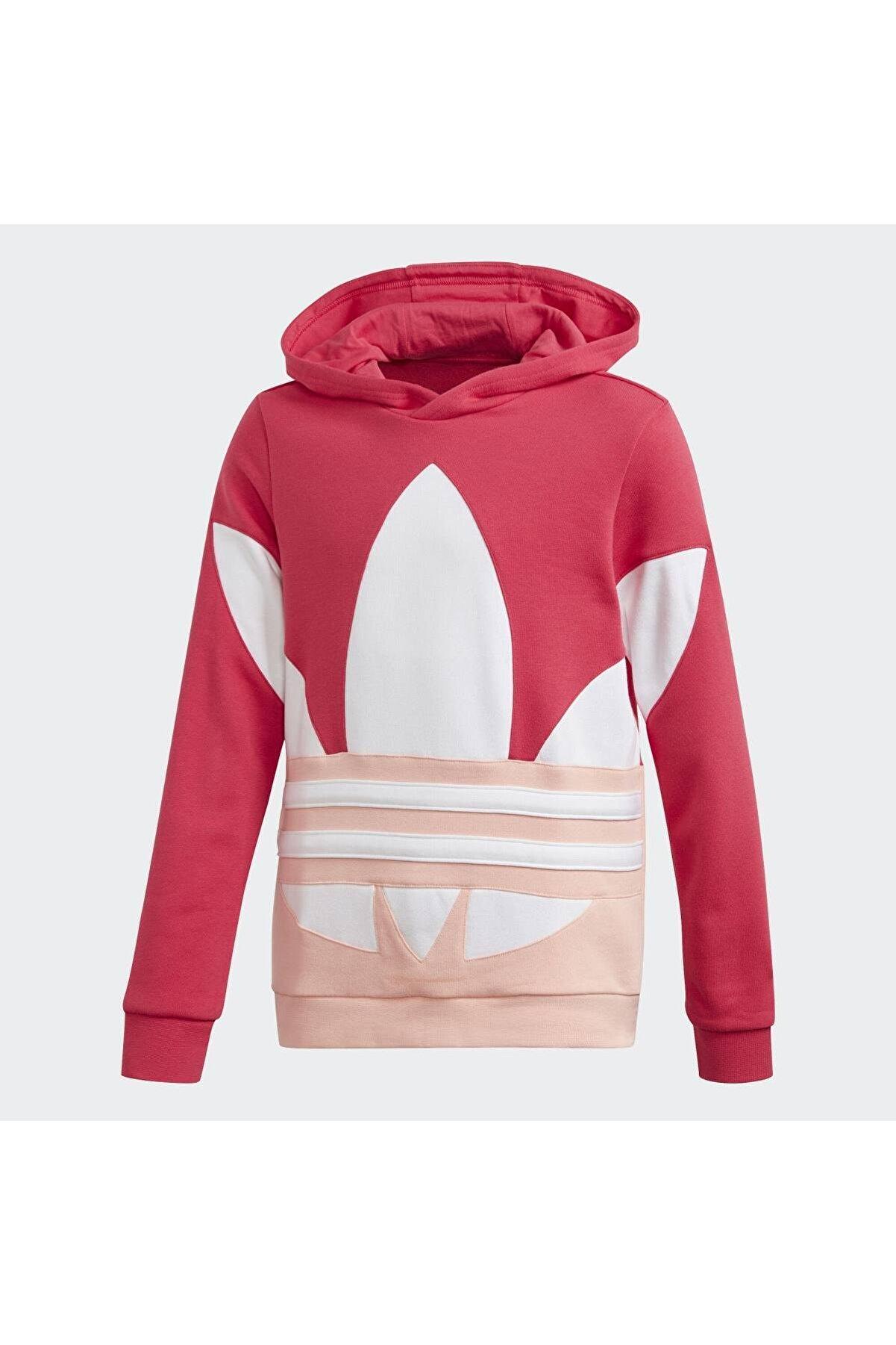 adidas Kız Çocuk Pembe Bıg Trf Hoodıe Spor Sweatshirt