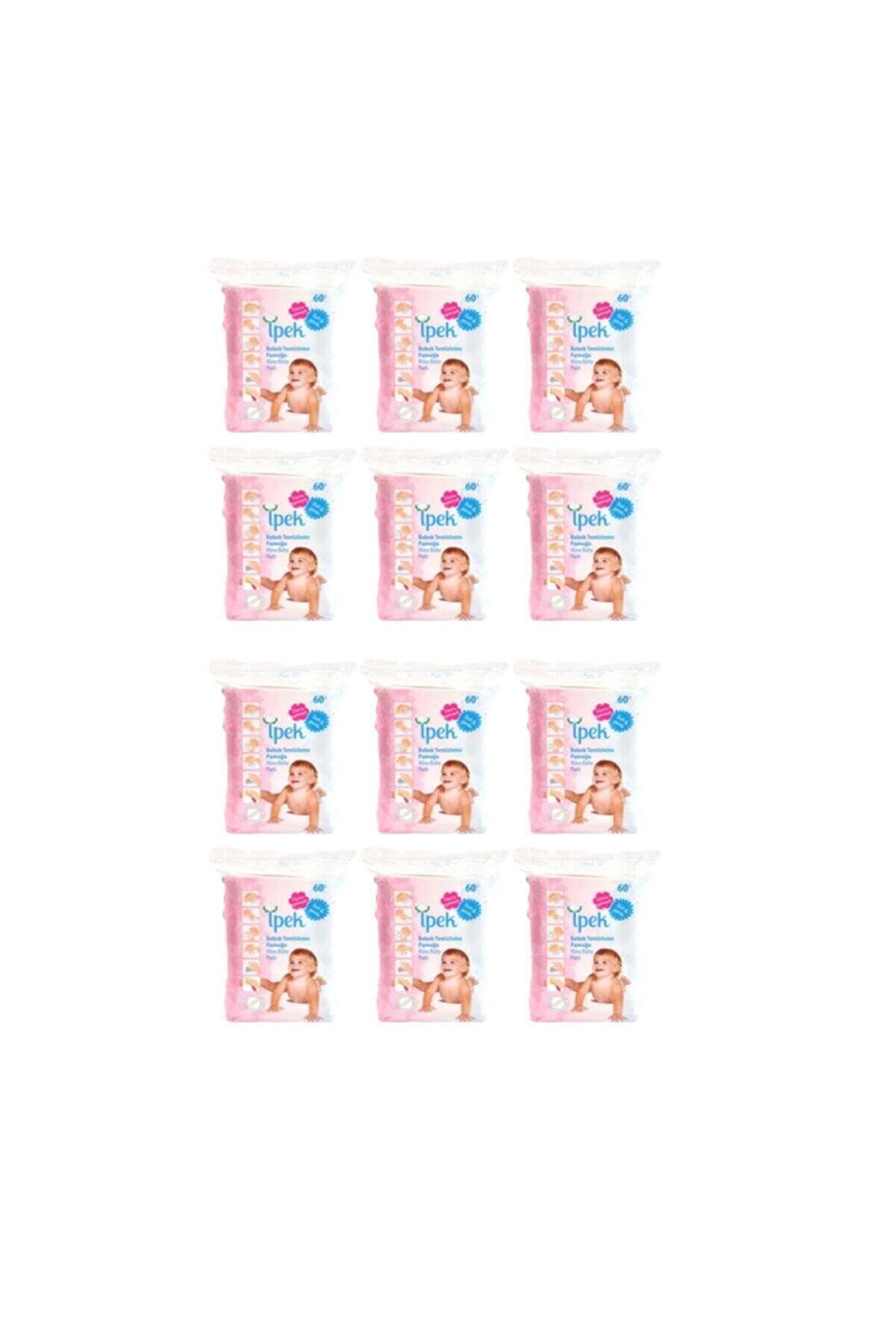 İpek Bebek Temizleme Pamuğu 60 Lı 12 Paket 720 Kullanım