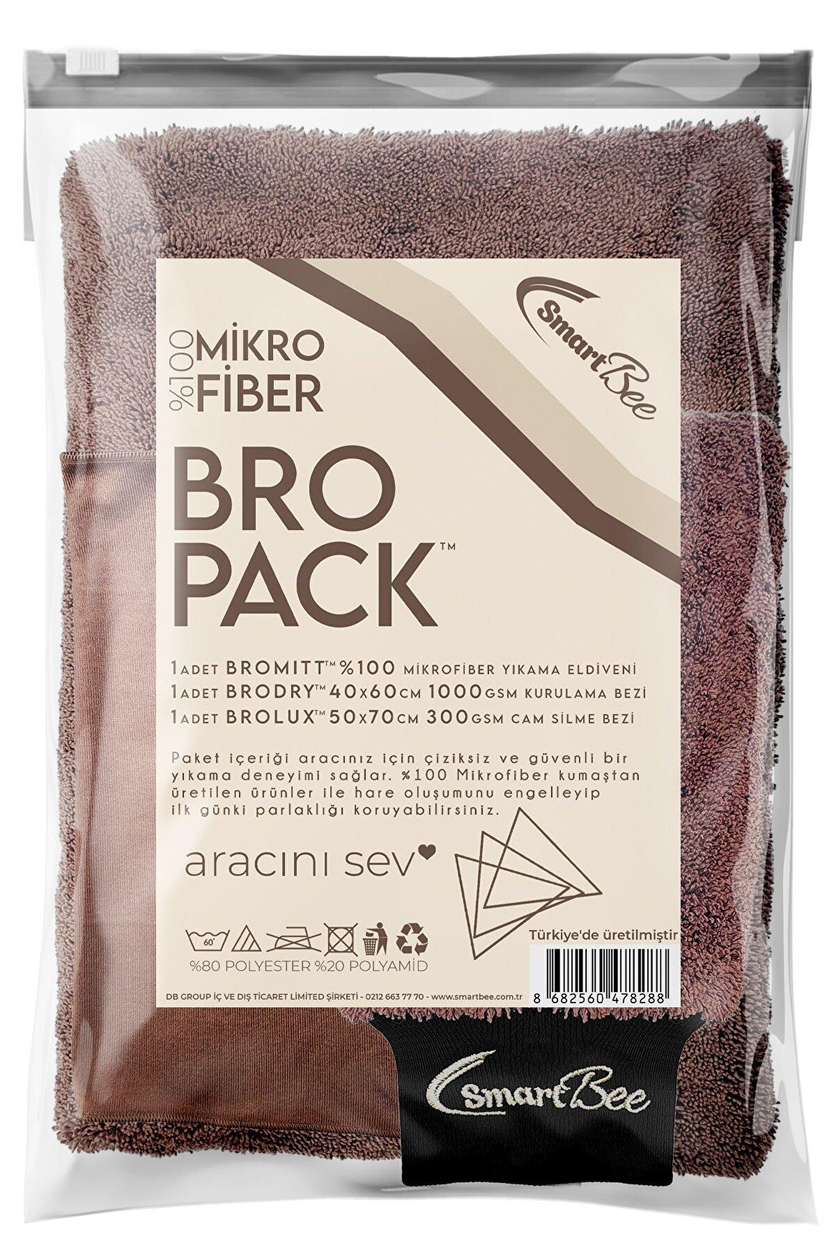SmartBee Kahverengi Bropack Edgeless Mikrofiber Oto Yıkama Paketi