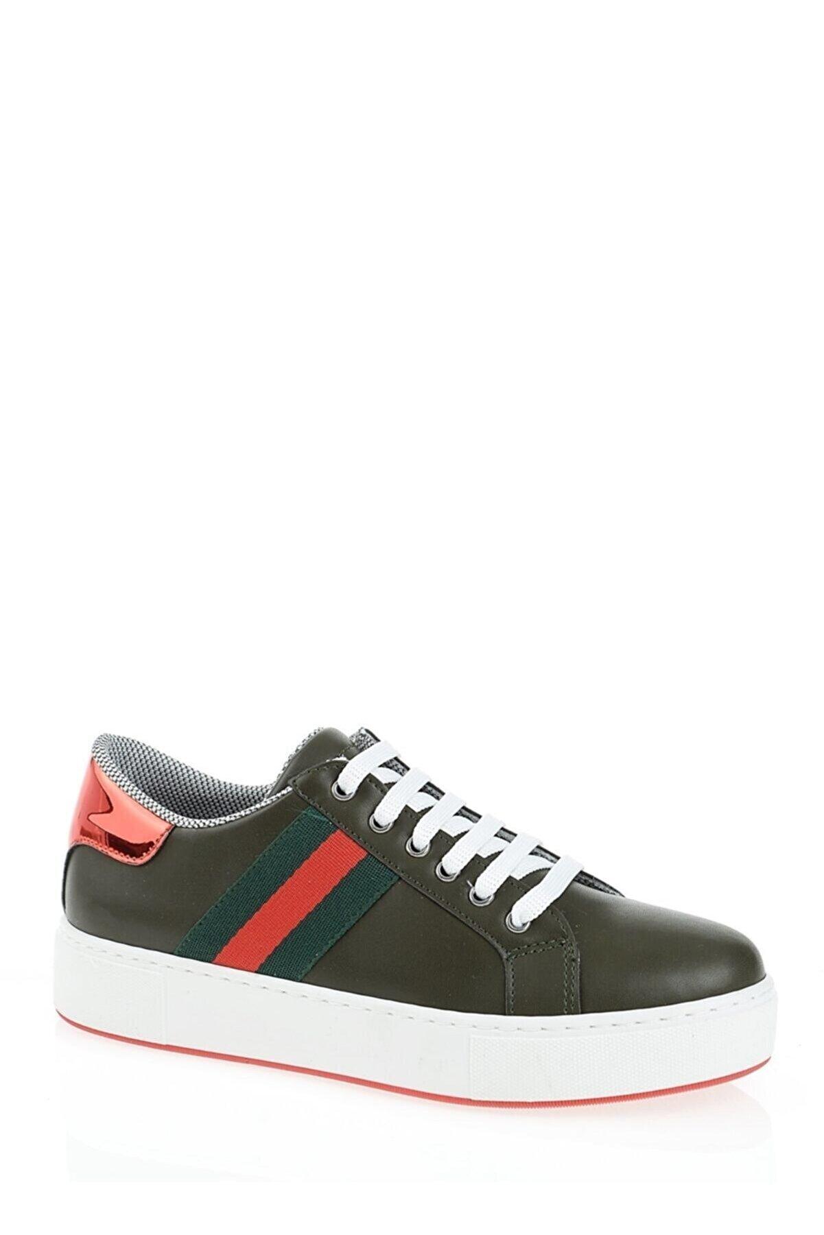 Derigo Yeşil Şerit Kadın Casuel Ayakkabı 221701