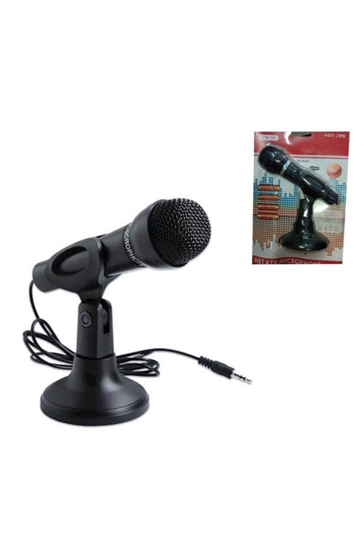 Enshall Masa Üstü Siyah Kablolu Standlı Pc Mikrofonu