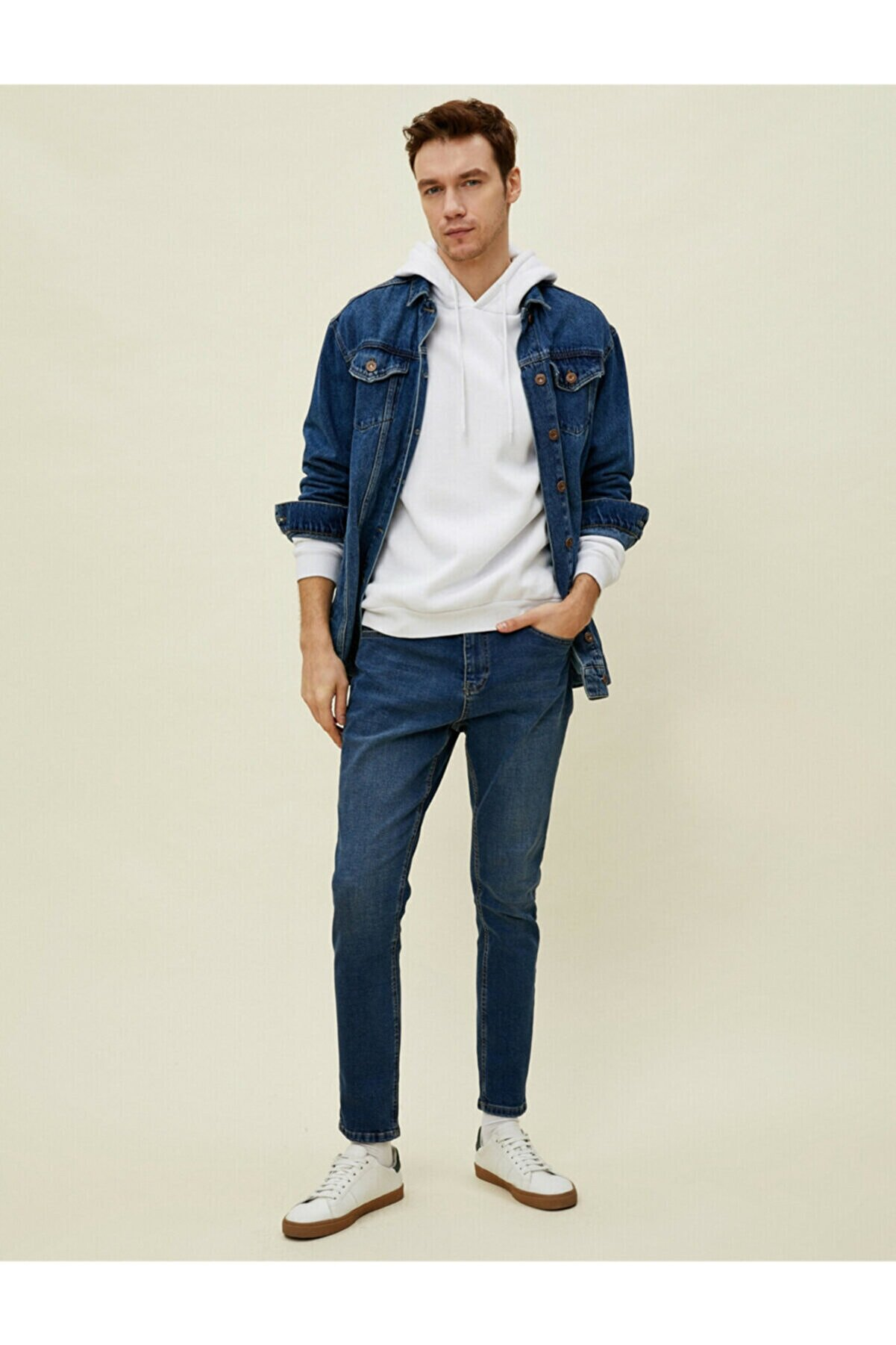 Koton Erkek Lacivert Fit Jeans