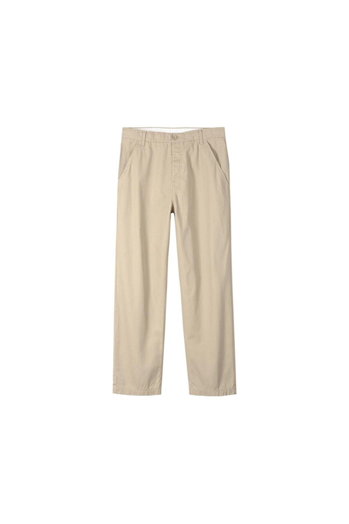 adidas Erkek Günlük Pantolon Krem Regular Pant G84574