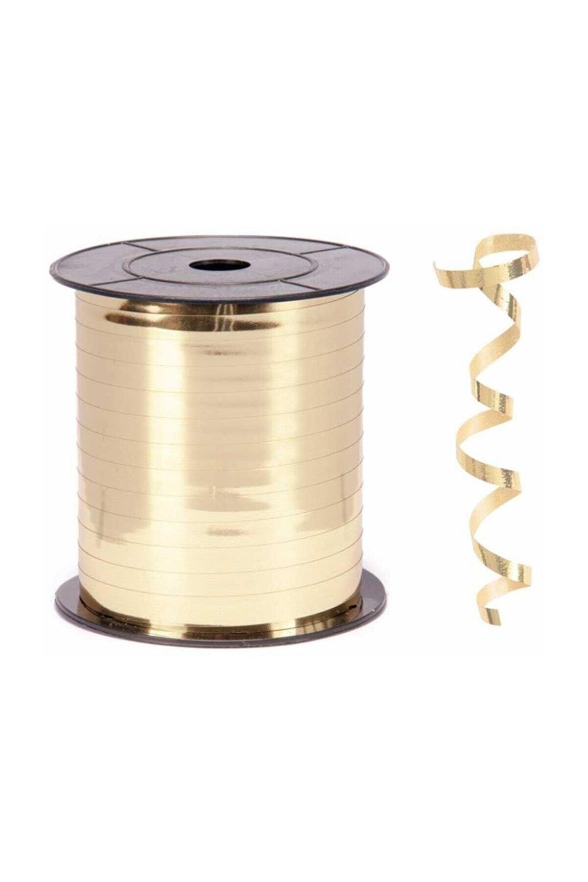 Vagon Rafya Metalik Altın Gold 5 Mm 200 Metre