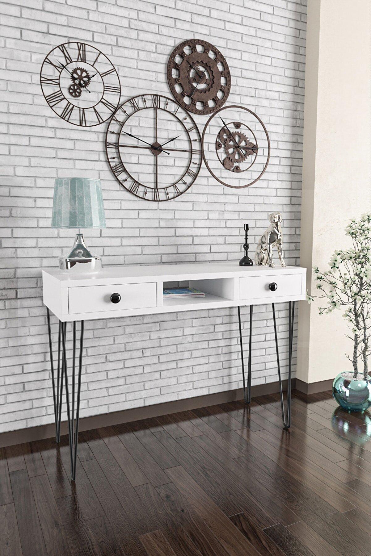 Wood House -ela Dresuar-beyaz Beyaz