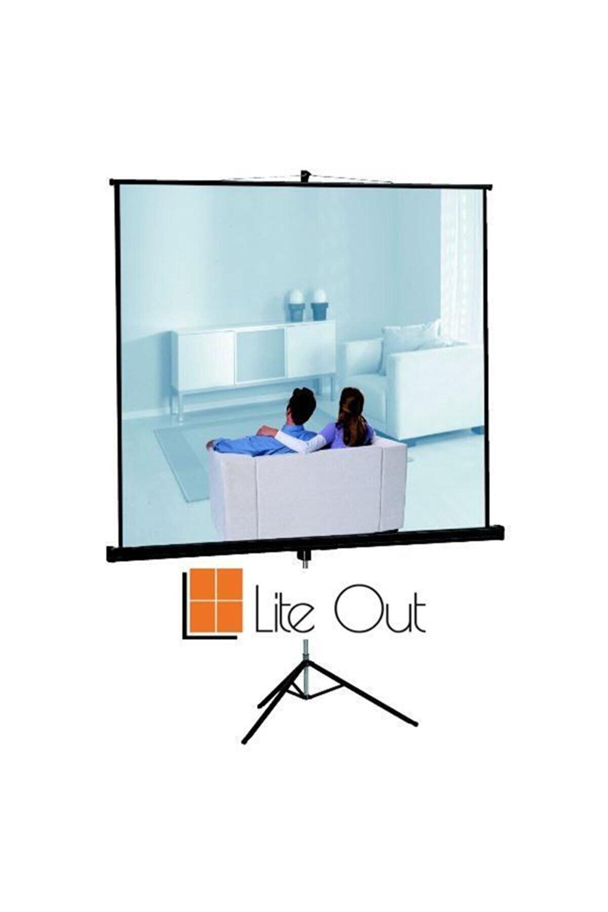 LiteOut 150x150cm Tripod Projeksiyon Perdesi