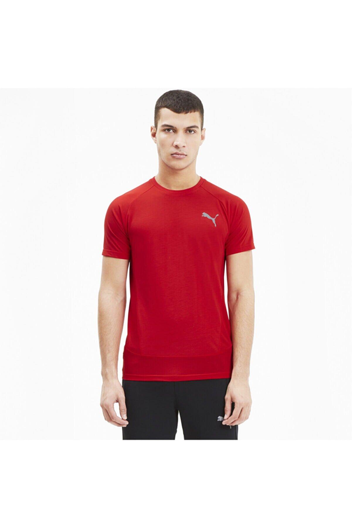 Puma EVOSTRIPE Kırmızı Erkek T-Shirt 101119427