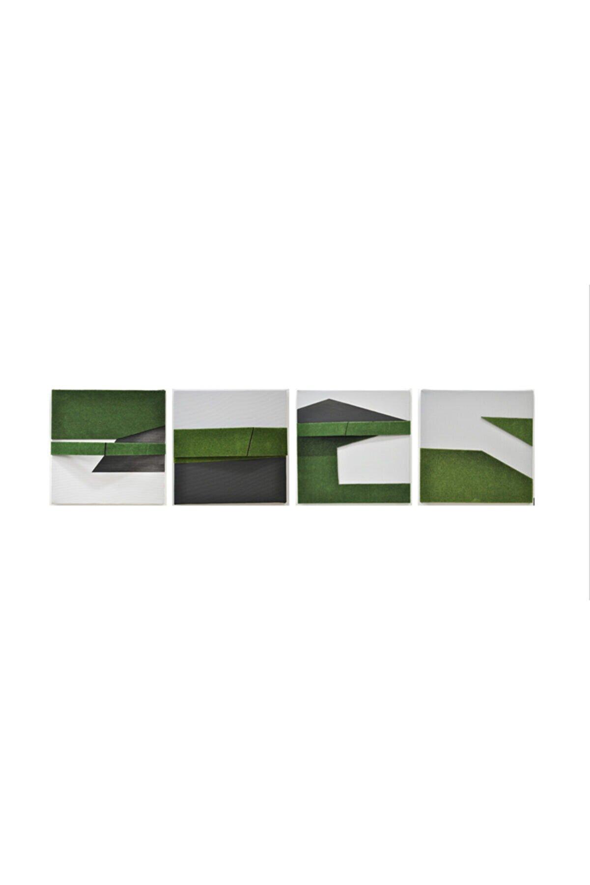 Elif Köse Yeşil Alan, 25x25x5, Tuval Üzerine Karışık Teknik
