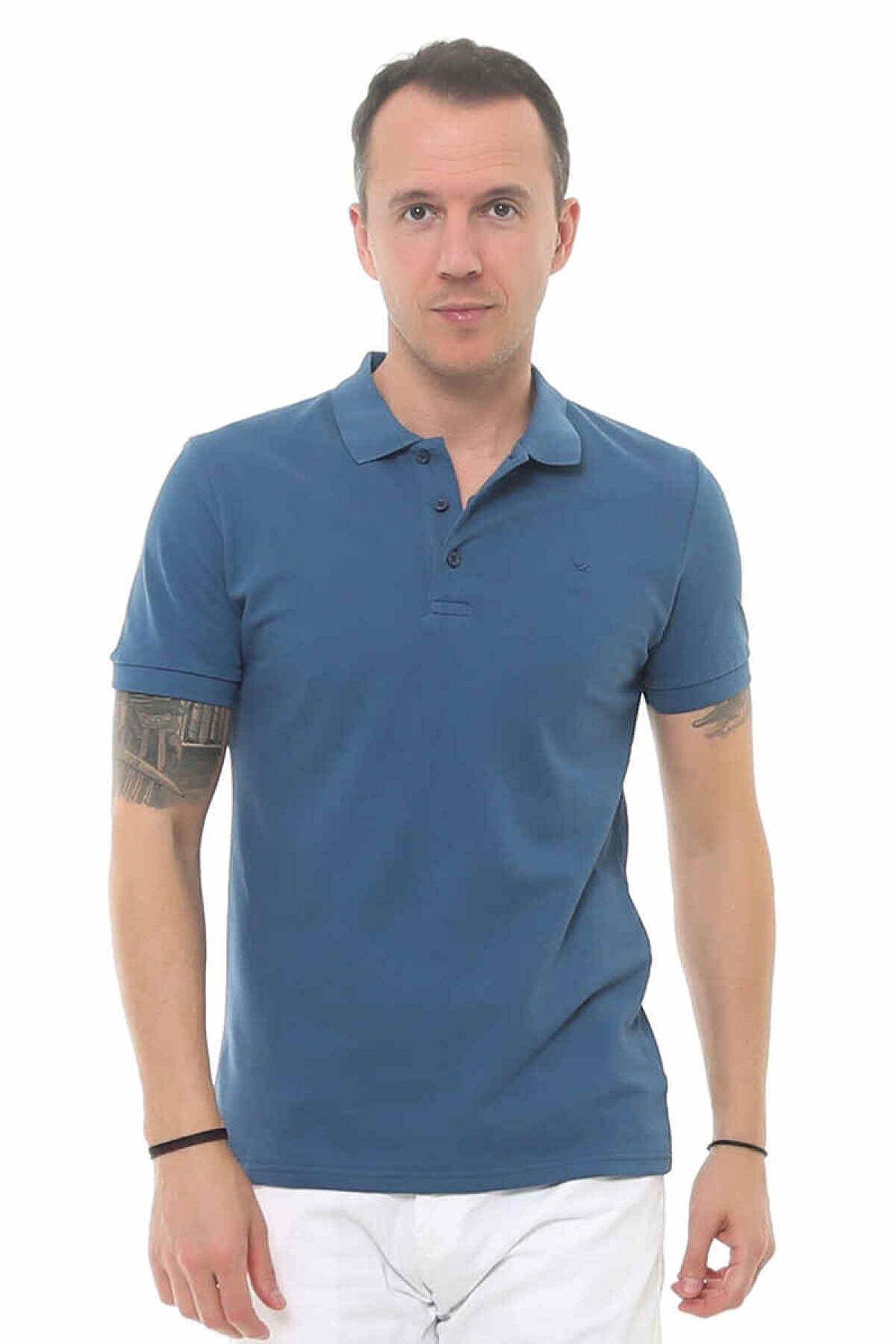 Cazador Caz 4613Erkek Mavi  Polo T-shırt
