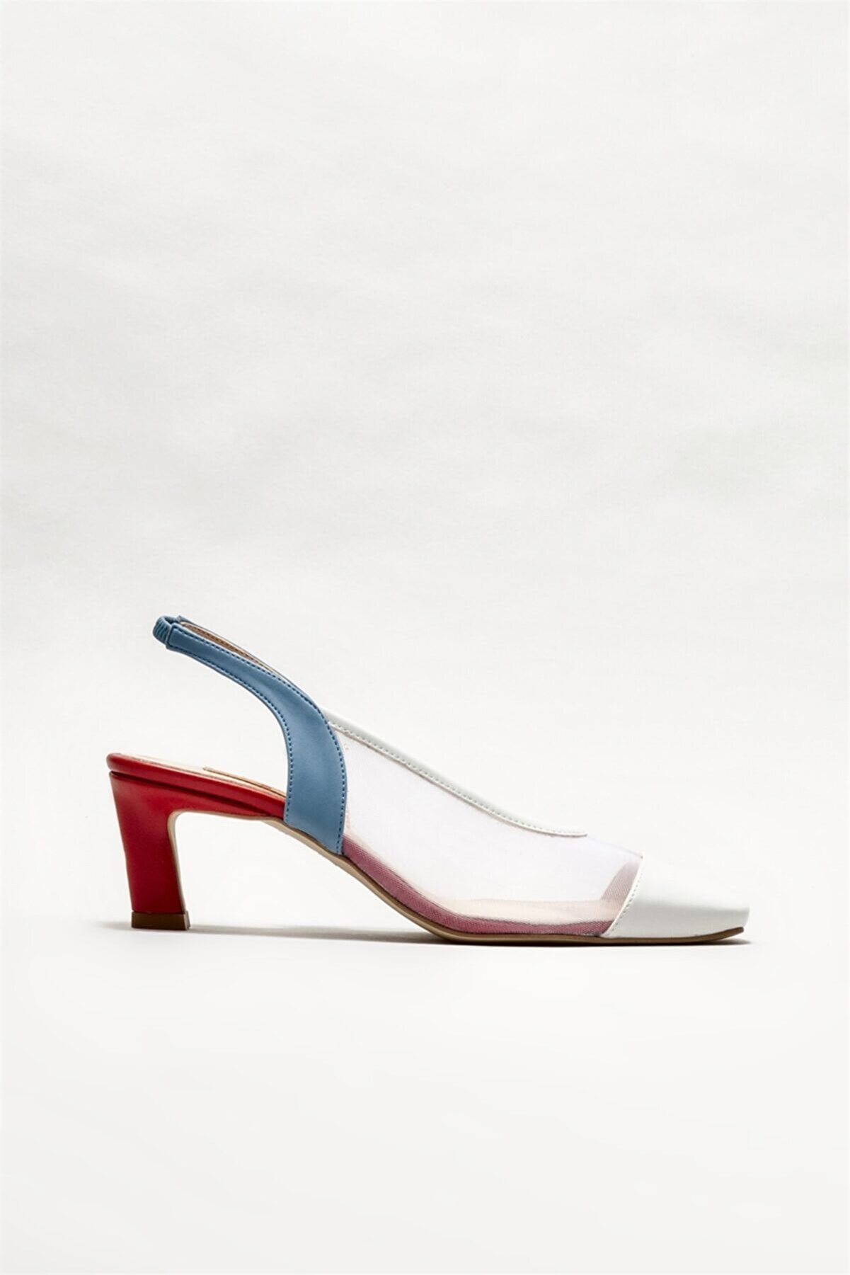 Elle Kadın Beyaz Topuklu Ayakkabı
