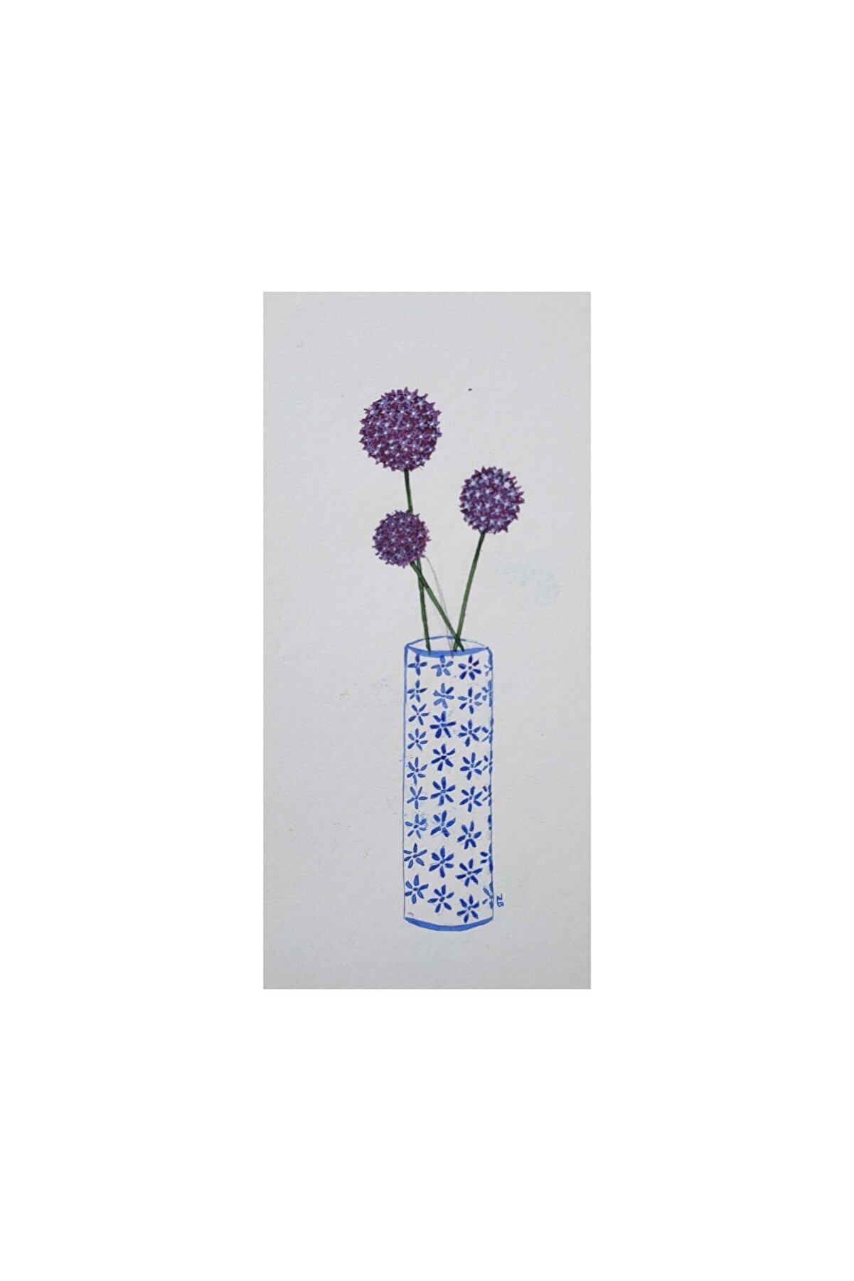 Zeynep Bato Allium, 11x5, Suluboya
