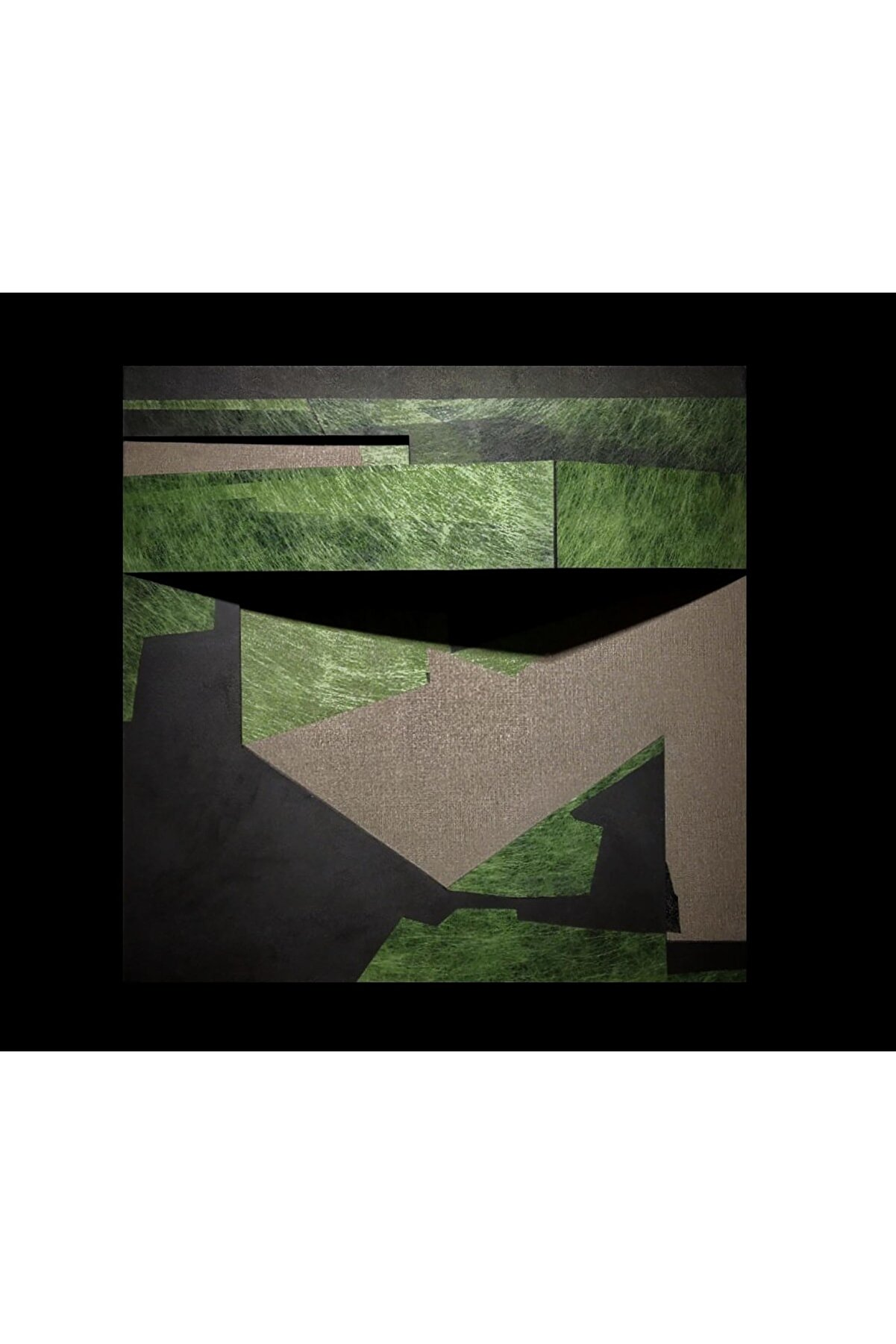 Elif Köse Ev 2, 70x70x13, Tuval Üzerine Karışık Teknik