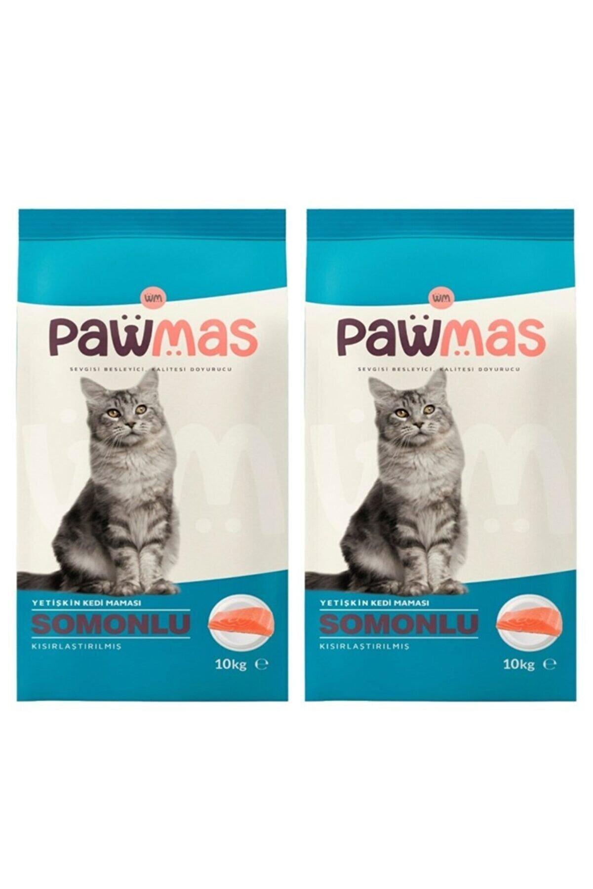 Pawmas Somonlu Kısırlaştırılmış Yetişkin Kedi Maması 10 kg 2 Adet