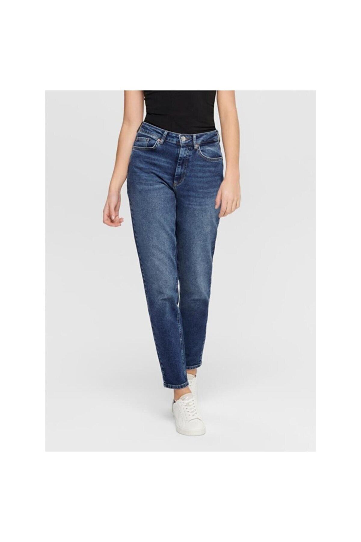 Only Veneda Life Mom Jeans Rea844 Noos Kadın Lacivert Jean 15206610-04