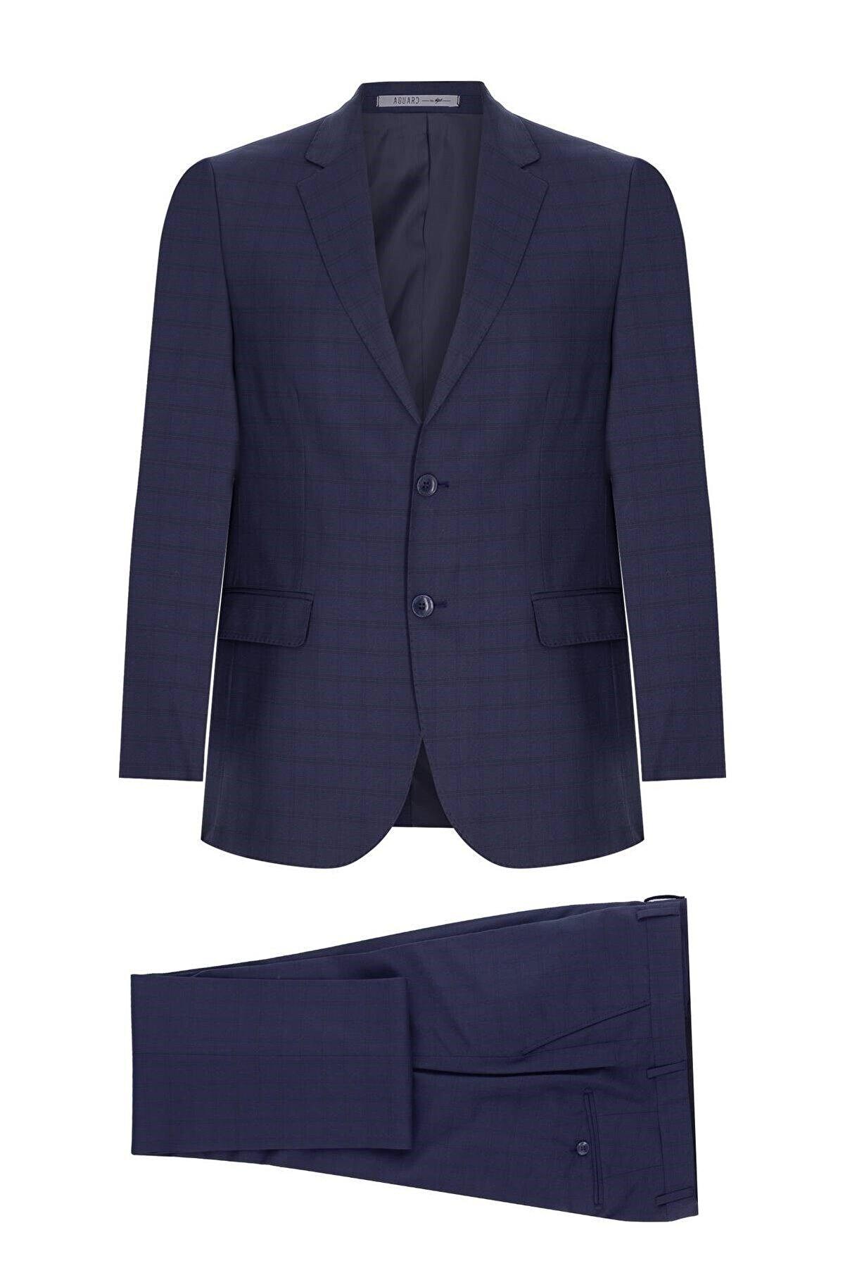 İgs Erkek Füme Barı / Geniş Kalıp Mono Yaka Takım Elbise