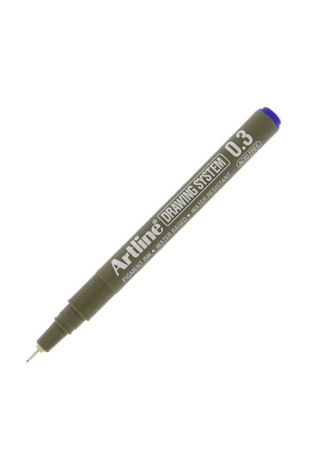 artline Drawing System 0.3 Çizim Kalemi Uç:0,3mm Mavi