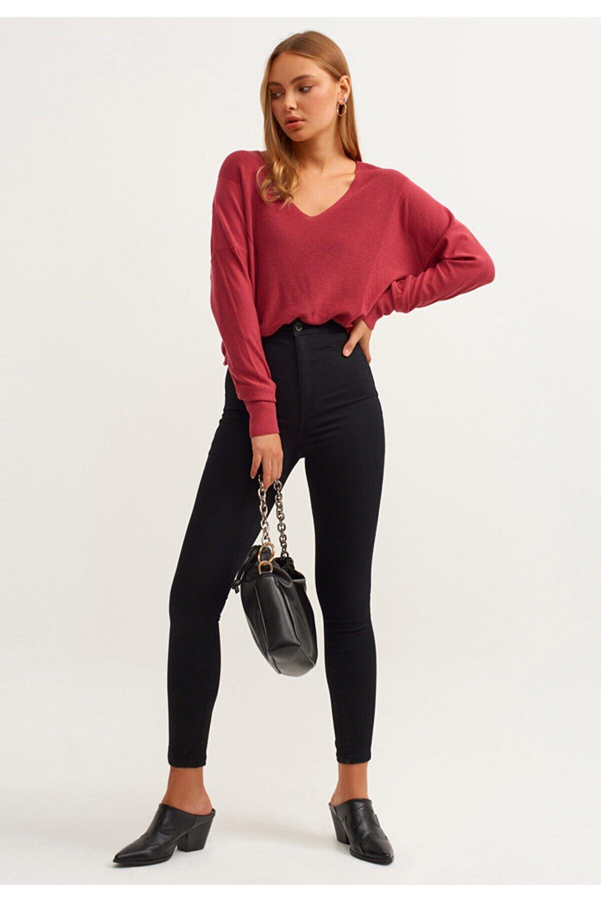 İNCİMMODA Toparlayıcı Solmayan Skinny Jean Siyah Kadın Pantolon