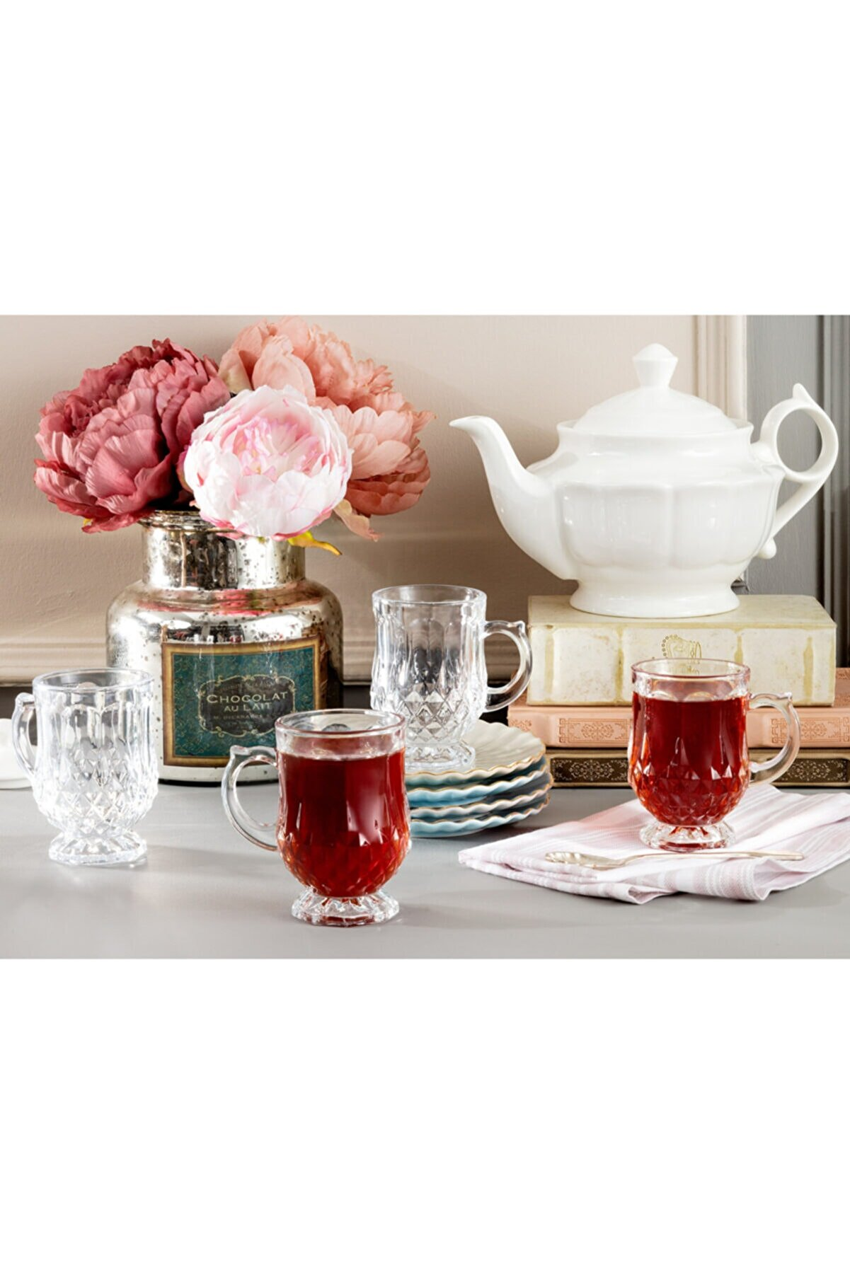 Madame Coco Miquel 4'lü Çay Fincanı 115 ml
