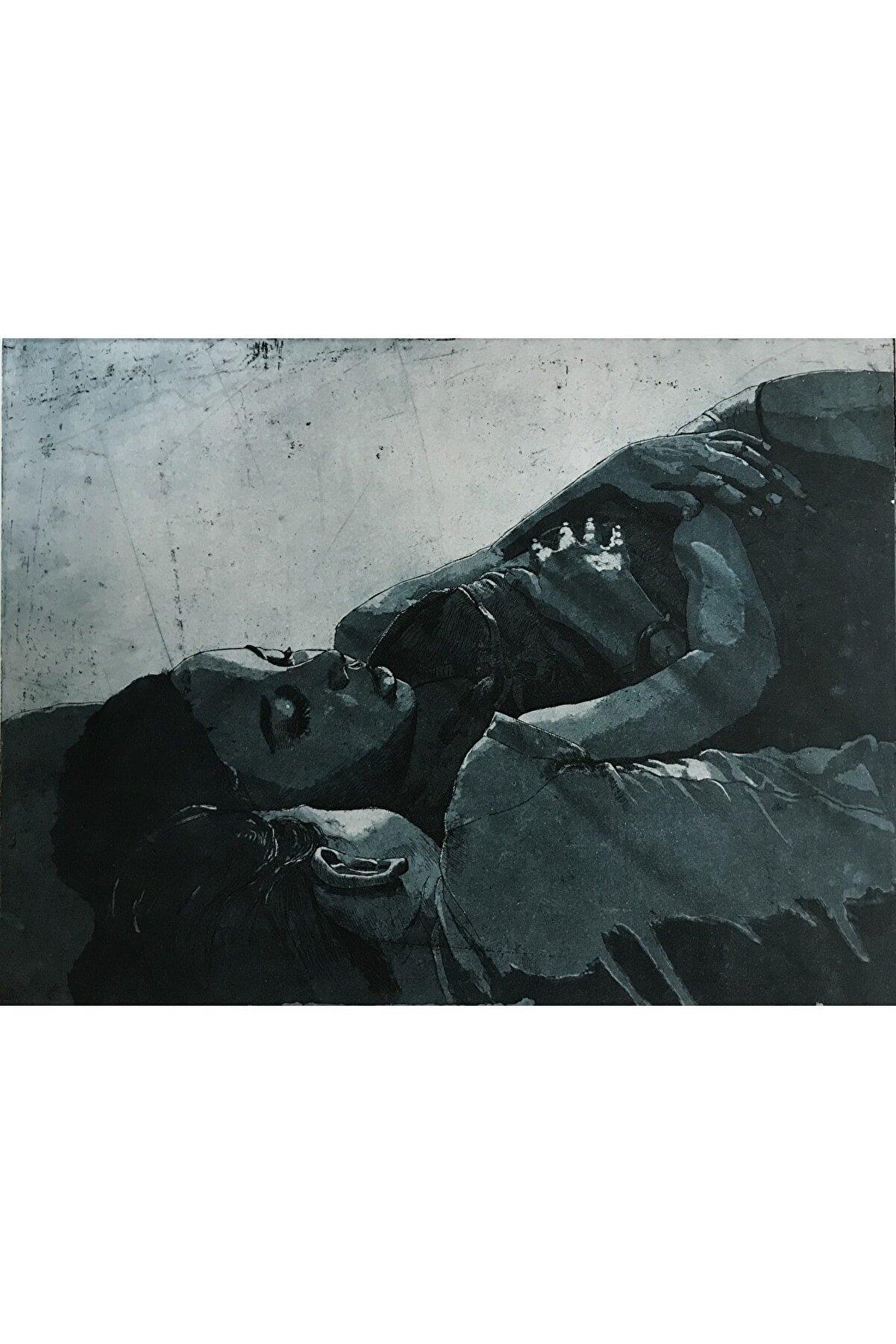 Elif Beyaz Uyku Serisi-2, 50x35, Metal Gravür