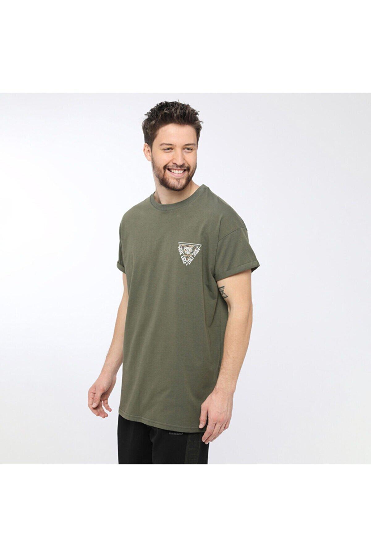 Lumberjack SIMON CHESTPRINT T-SHIRT Haki Erkek T-Shirt 100581155