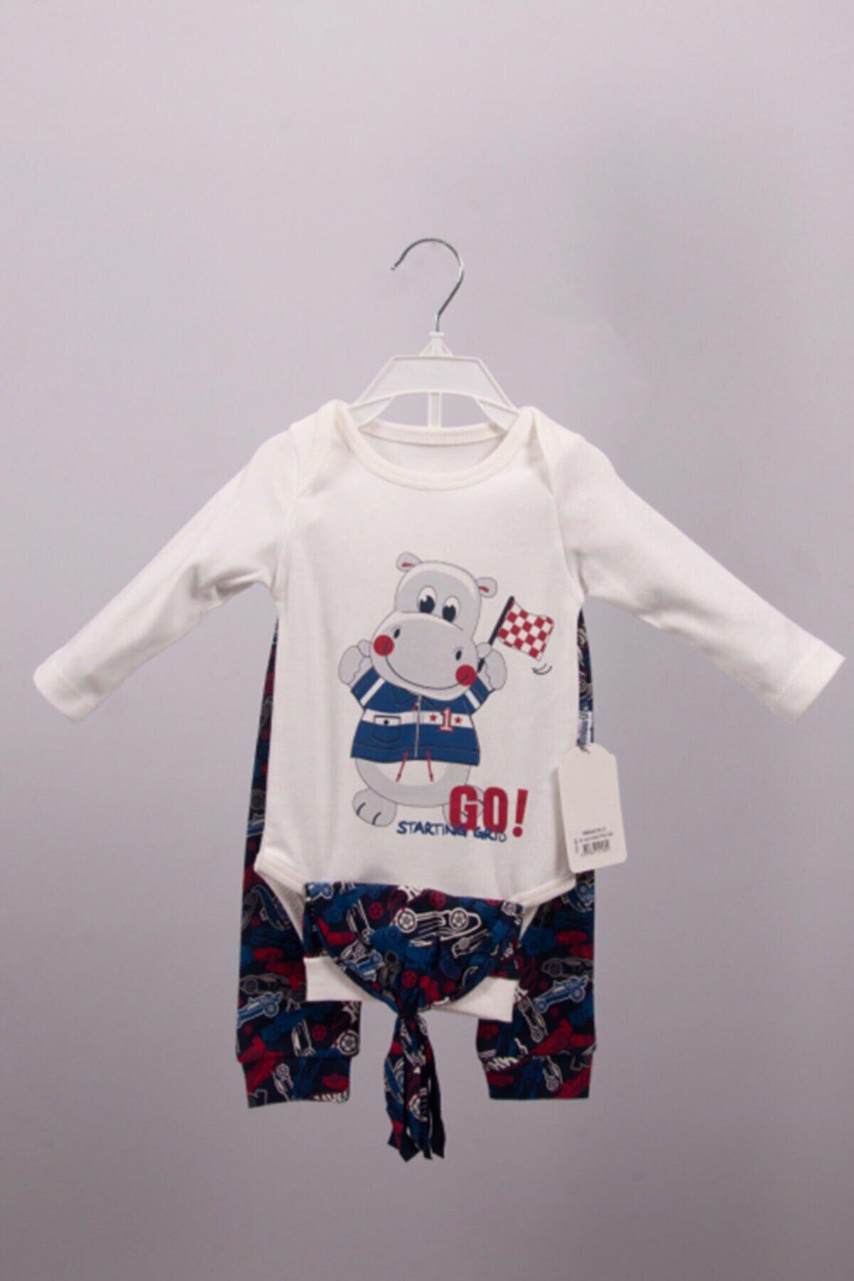 Miniworld 6-9 Ay Erkek Bebek Zıbın Takımı Baskılı