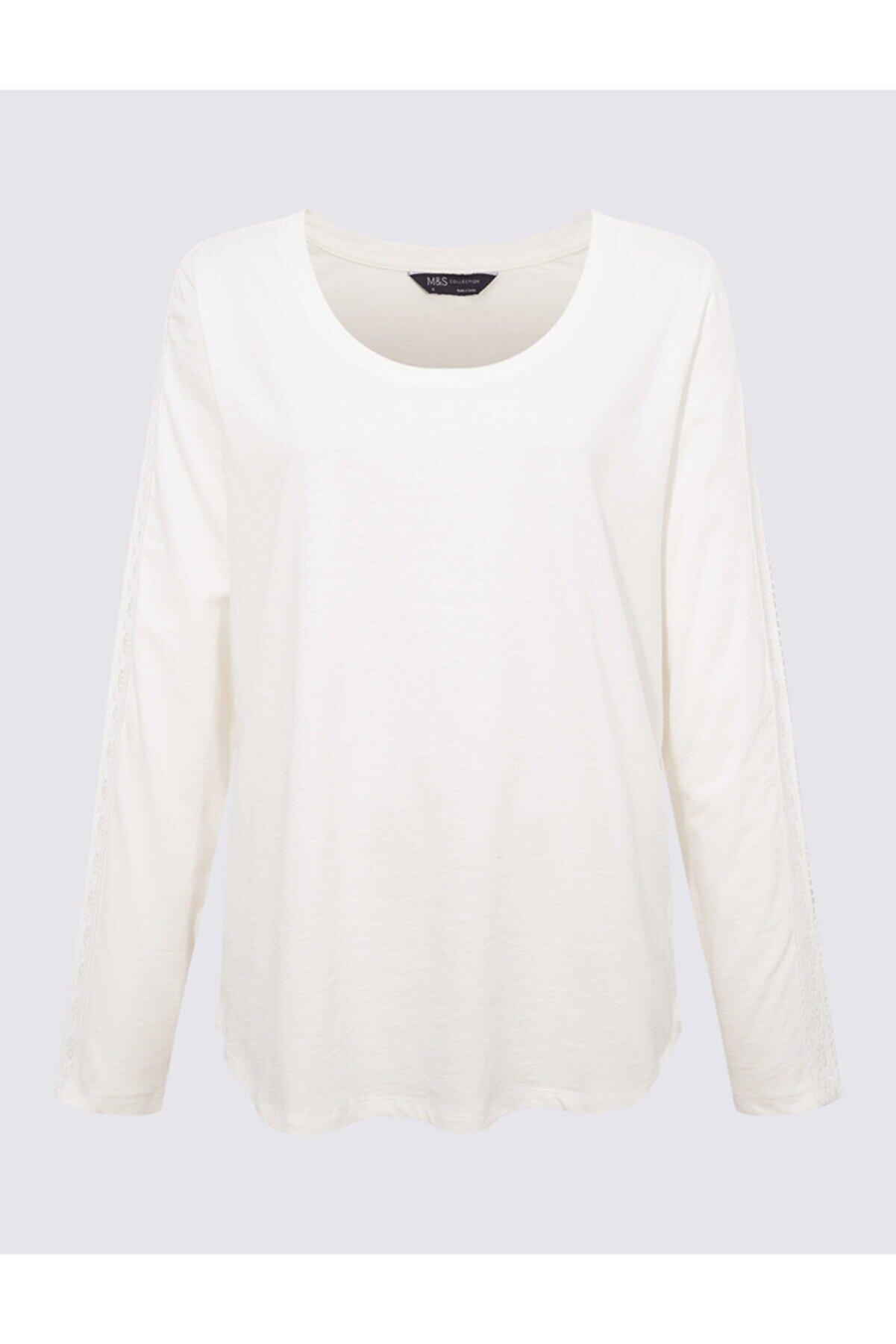 Marks & Spencer Dantelli Uzun Kollu T-shirt