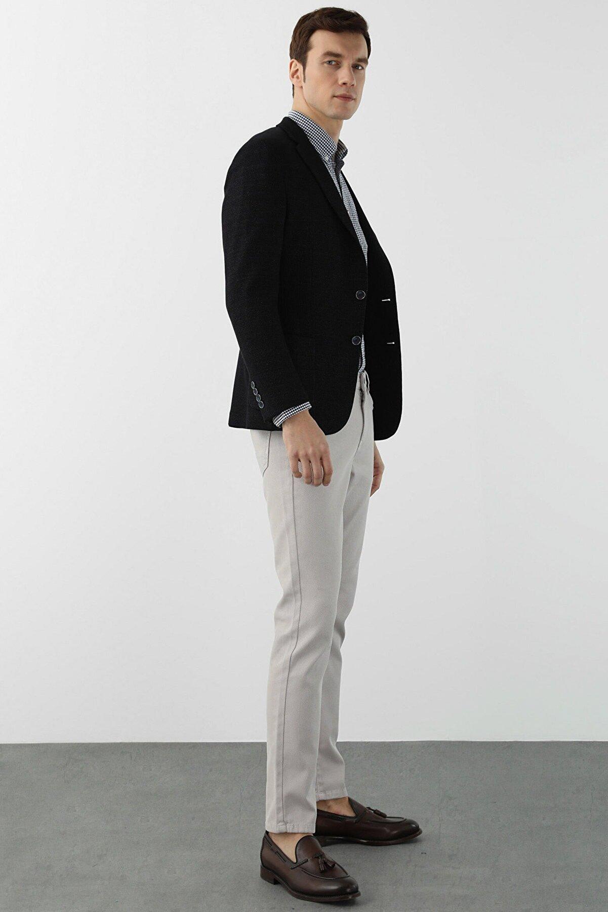 Network Erkek Slim Fit Taş Normal Bel Casual Pantolon 1078527