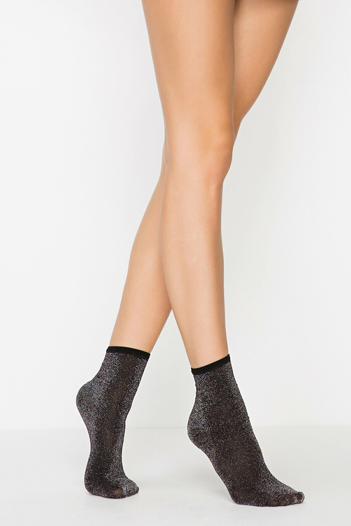 Penti Siyah Shıny Soket Çorap