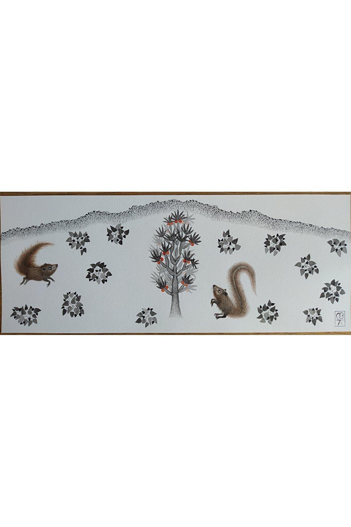 Başak Kademoğlu Hibrit Hayvanlar Serisi, 5x35, Kağıt Üzerine Suluboya