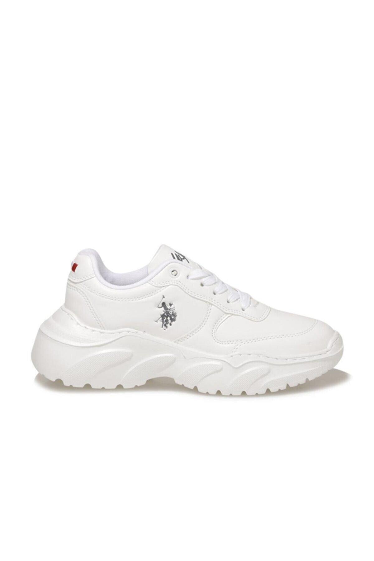 US Polo Assn Kadın Beyaz Lovely Comfort Casual Snekars Ayakkabı