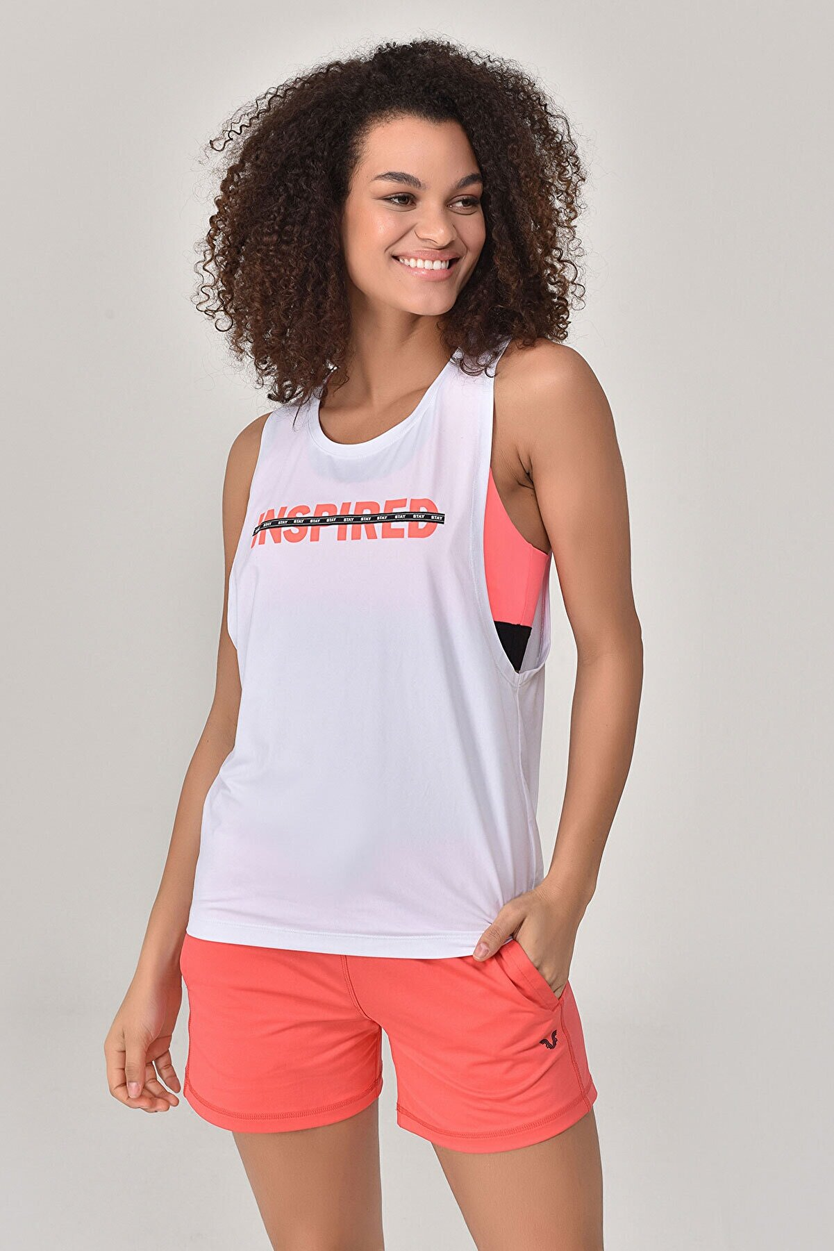 bilcee Kadın Beyaz Atlet  GS-8611