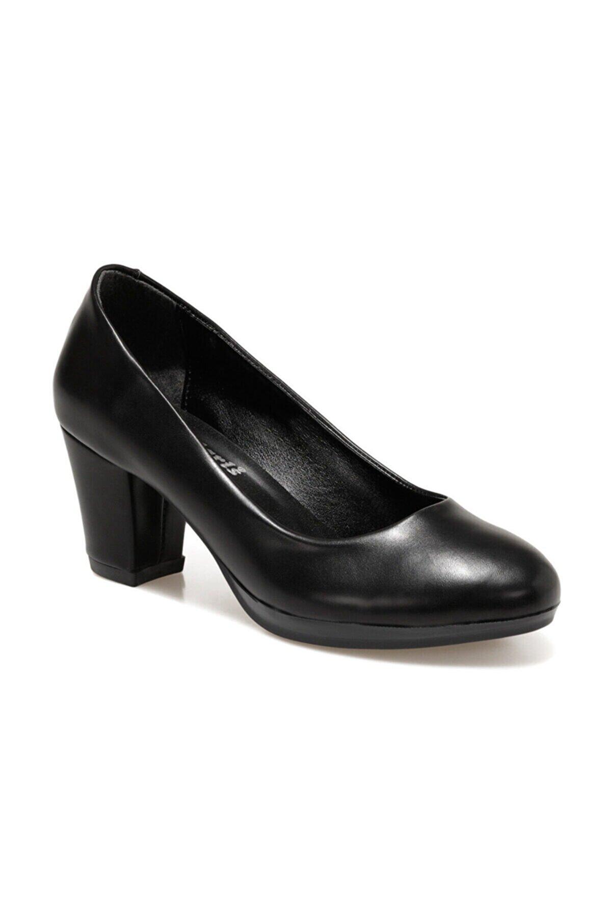 Polaris 316117.Z Siyah Kadın Topuklu Platform 100562799