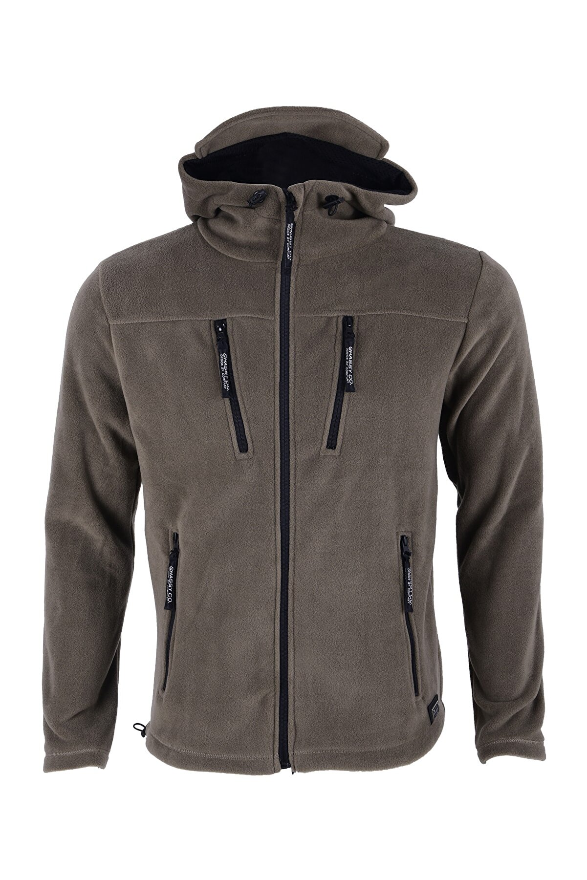 Ghassy Co Erkek Haki Army Tactical  Polar Kapüşonlu Ceket