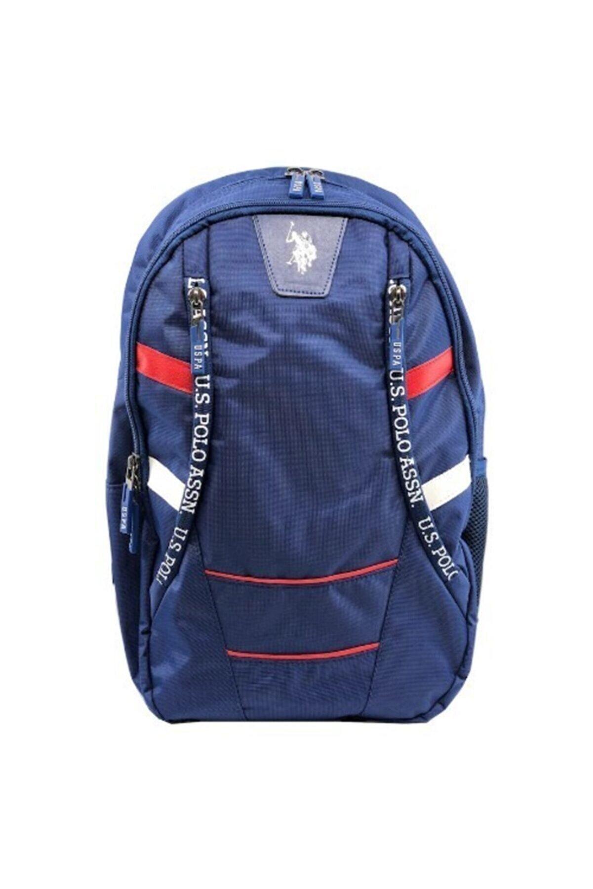 US Polo Assn Mavi-kırmızı Sırt Çantası 9244
